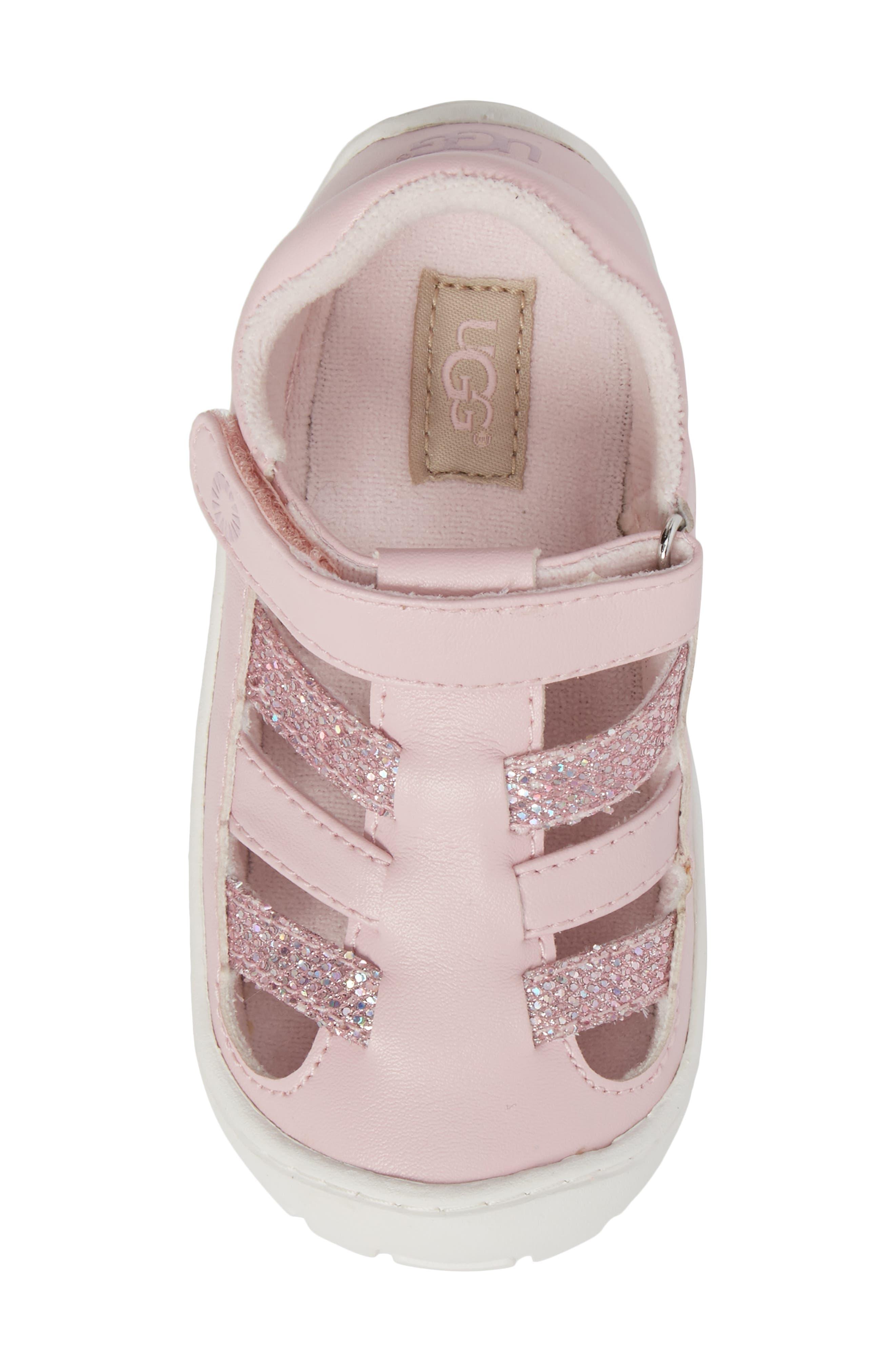 Santore Glitter Sandal,                             Alternate thumbnail 5, color,                             Seashell Pink