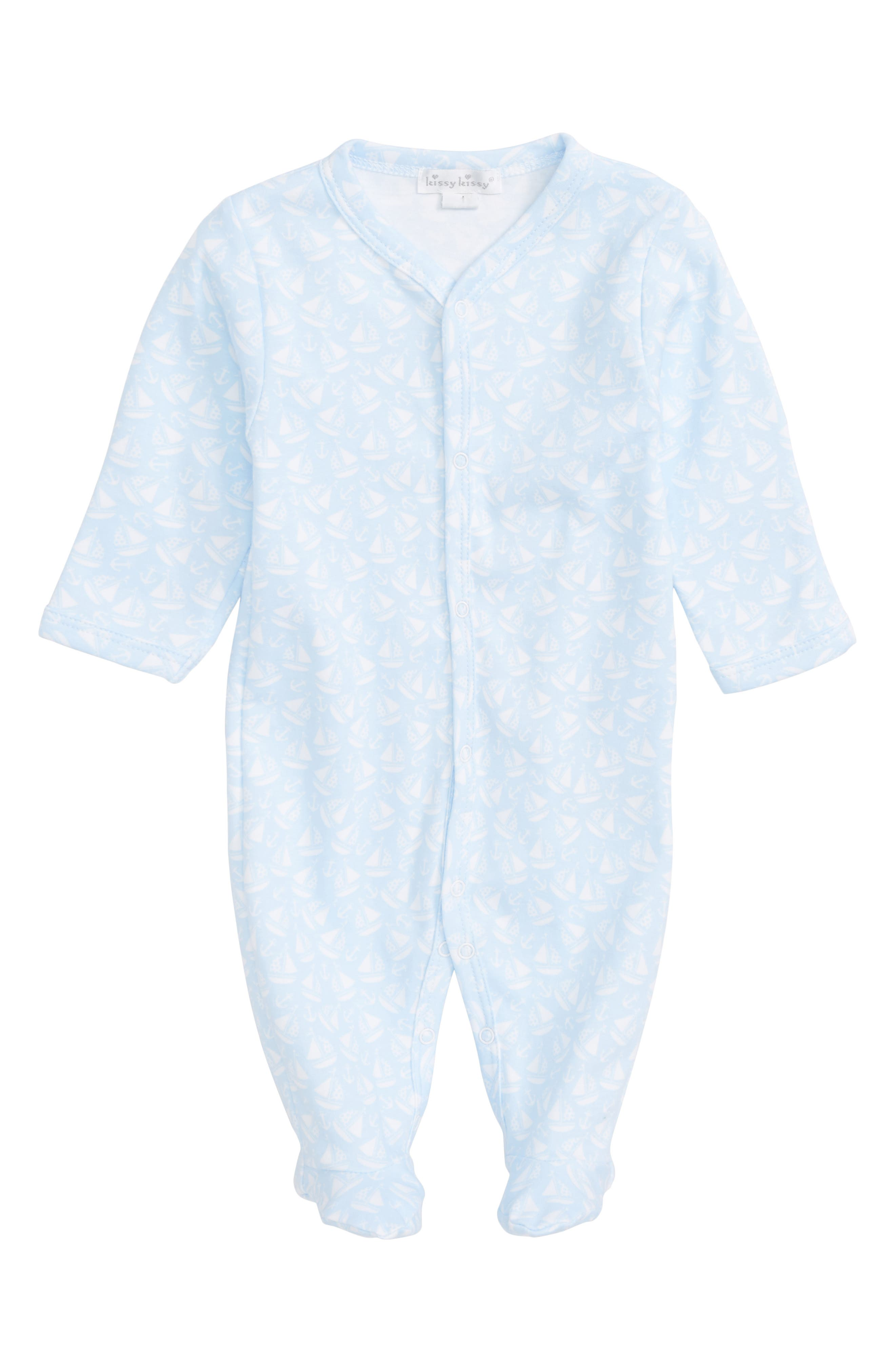 Kissy Kissy Gone Sailing Pima Cotton Footie (Baby Boys)