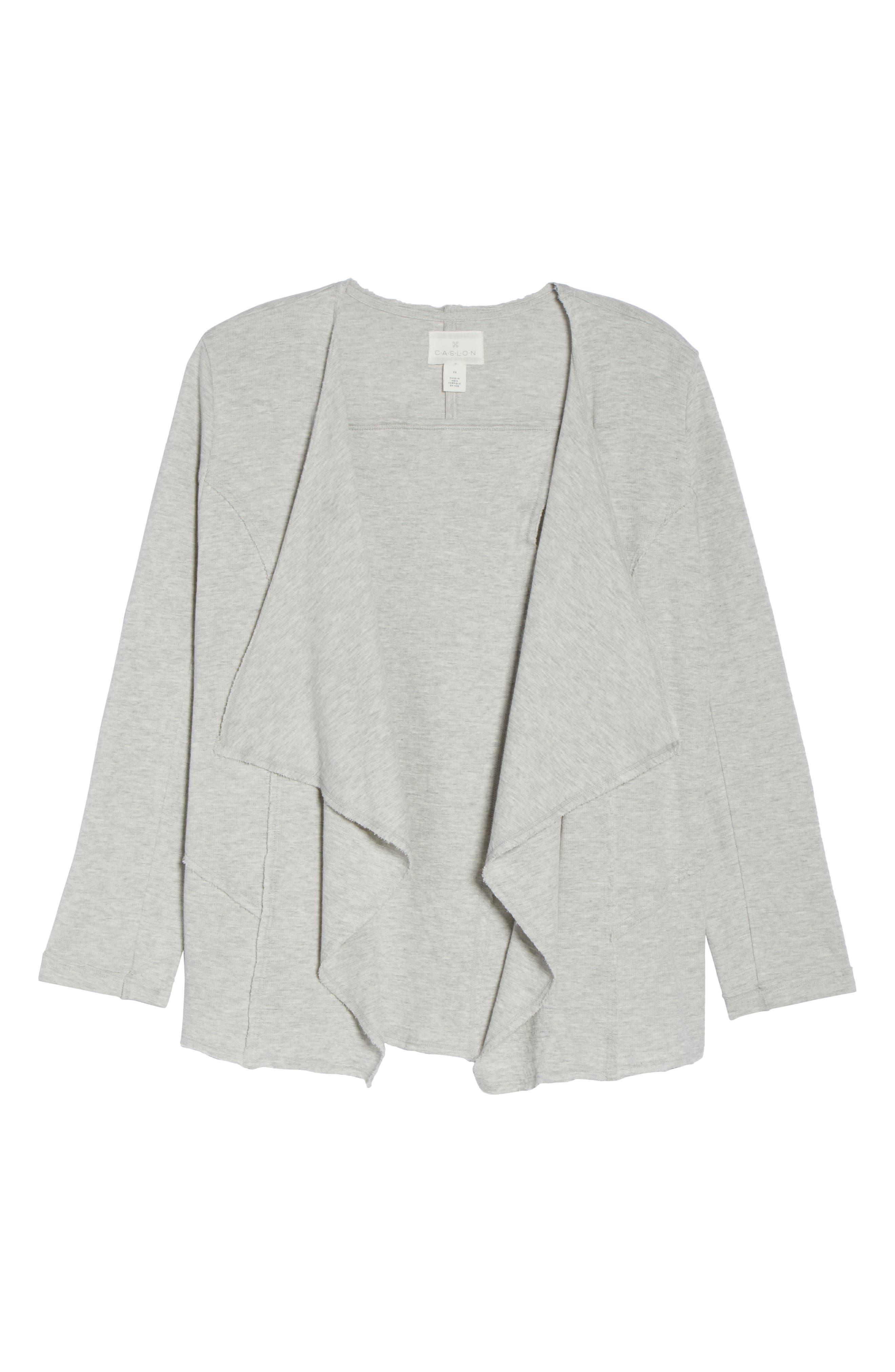 Alternate Image 6  - Caslon® Knit Drape Jacket (Plus Size)