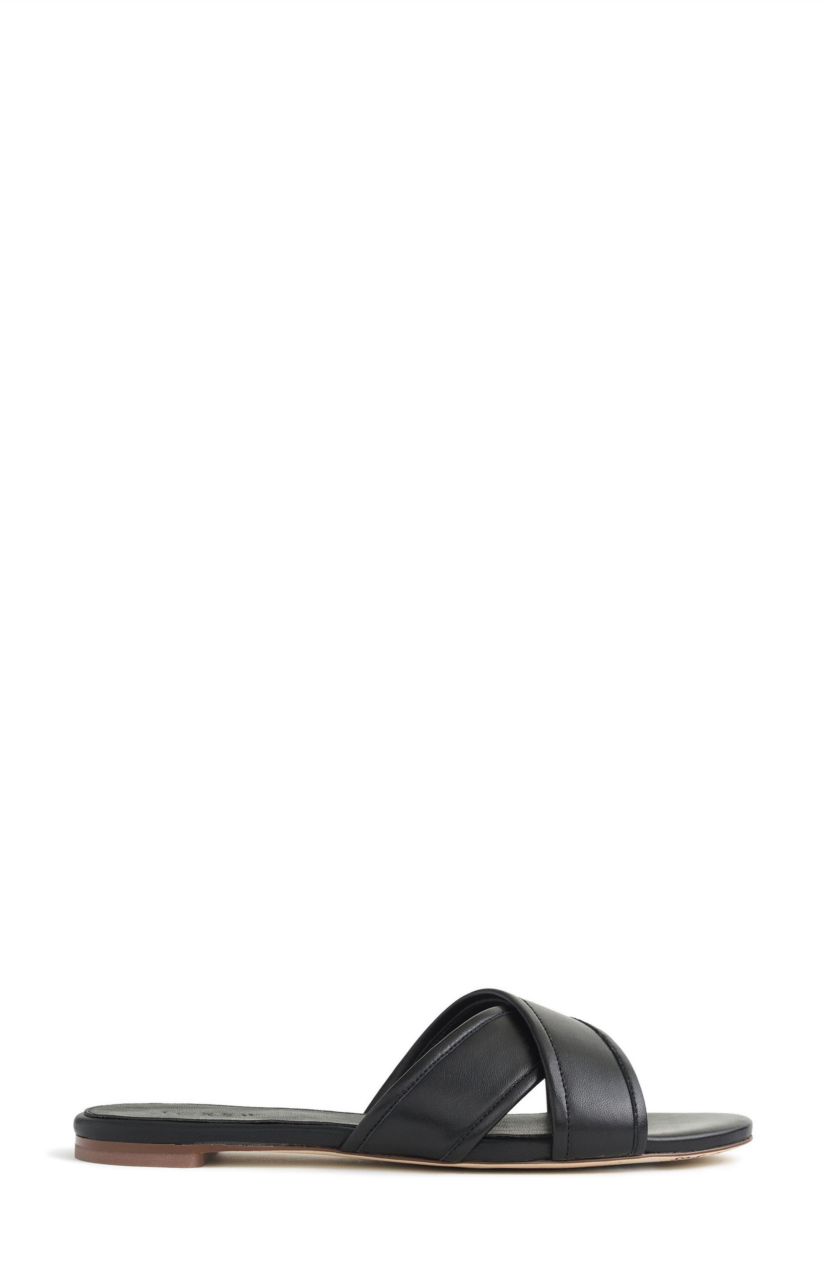 J.Crew Cora Slide Sandal,                             Alternate thumbnail 2, color,                             Black Fabric