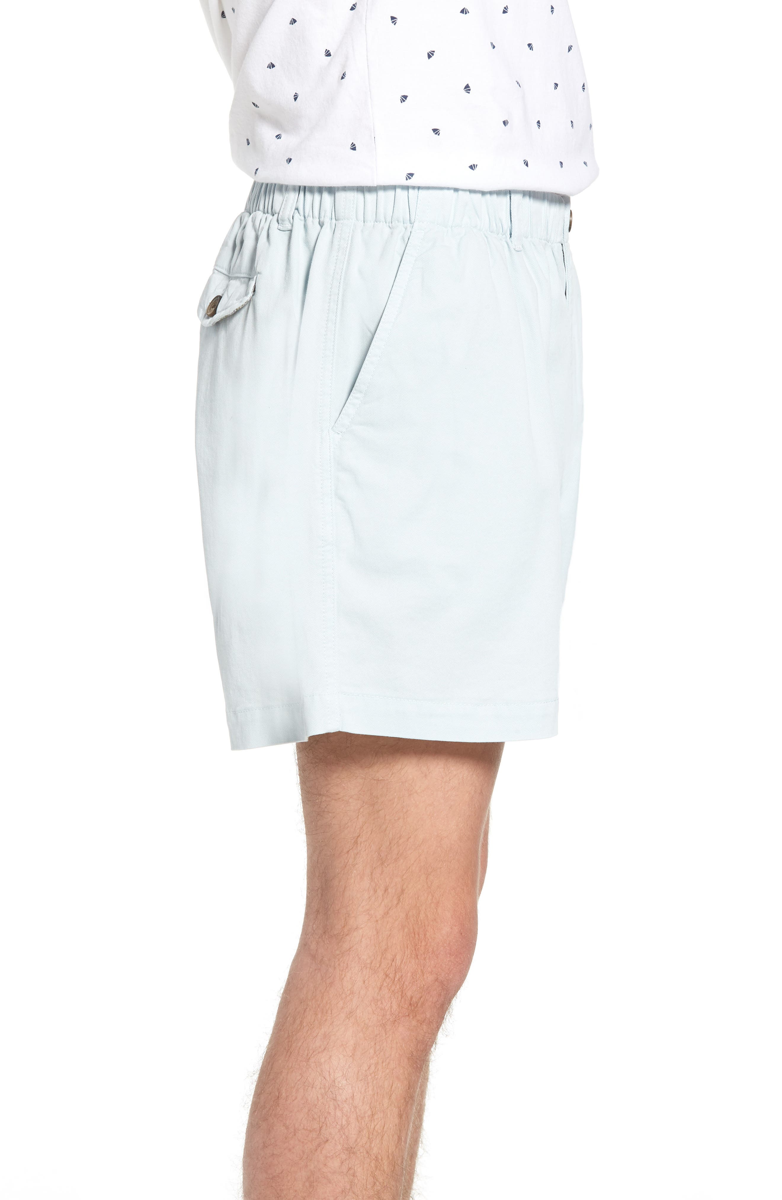 Snappers Elastic Waist 5.5 Inch Stretch Shorts,                             Alternate thumbnail 3, color,                             Sky