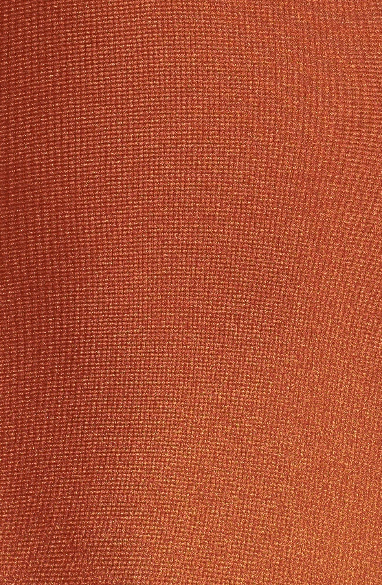 Long Sleeve Bodysuit,                             Alternate thumbnail 5, color,                             Ginger Orange