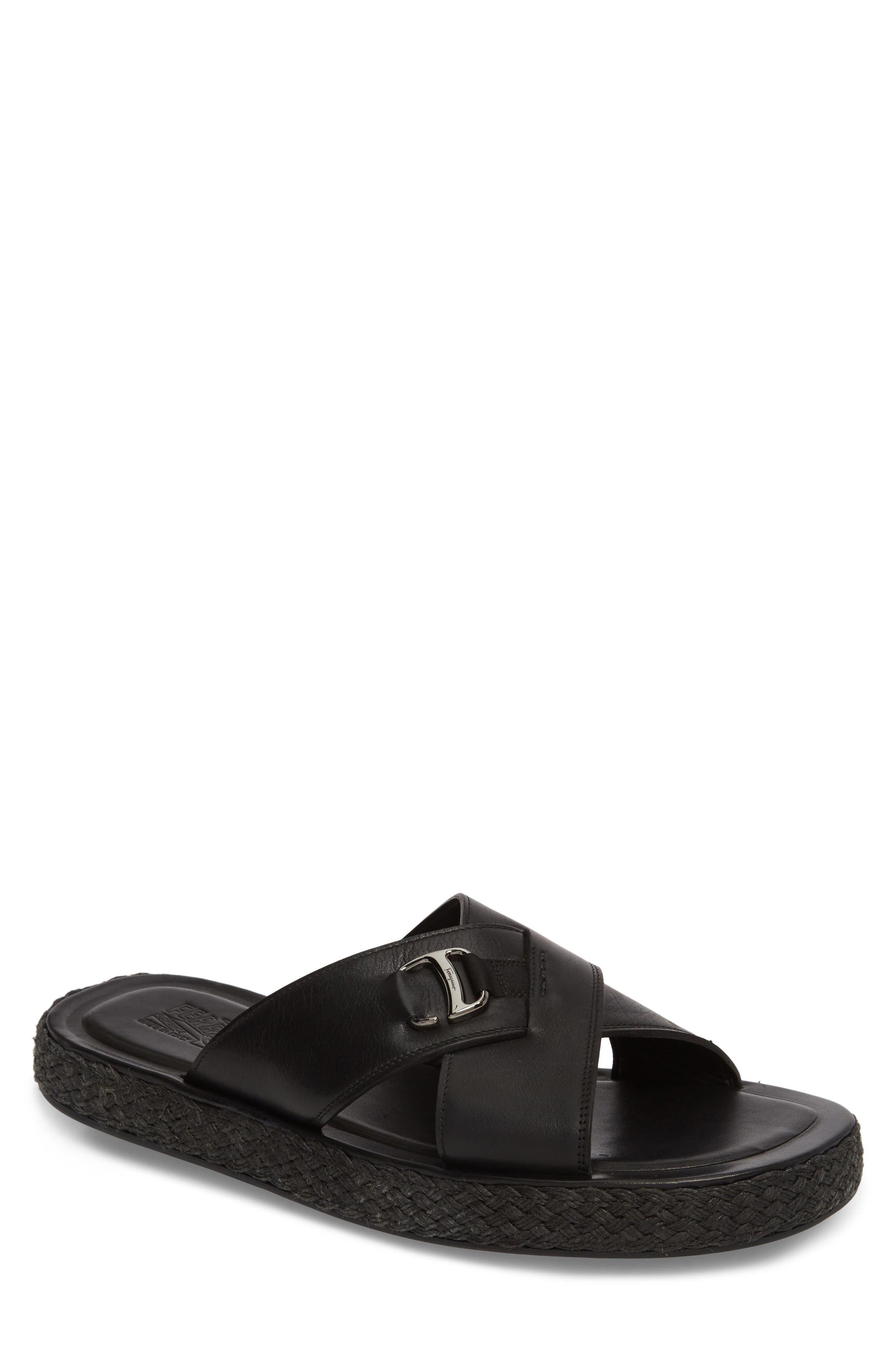 Comodo Slide Sandal,                         Main,                         color, Nero
