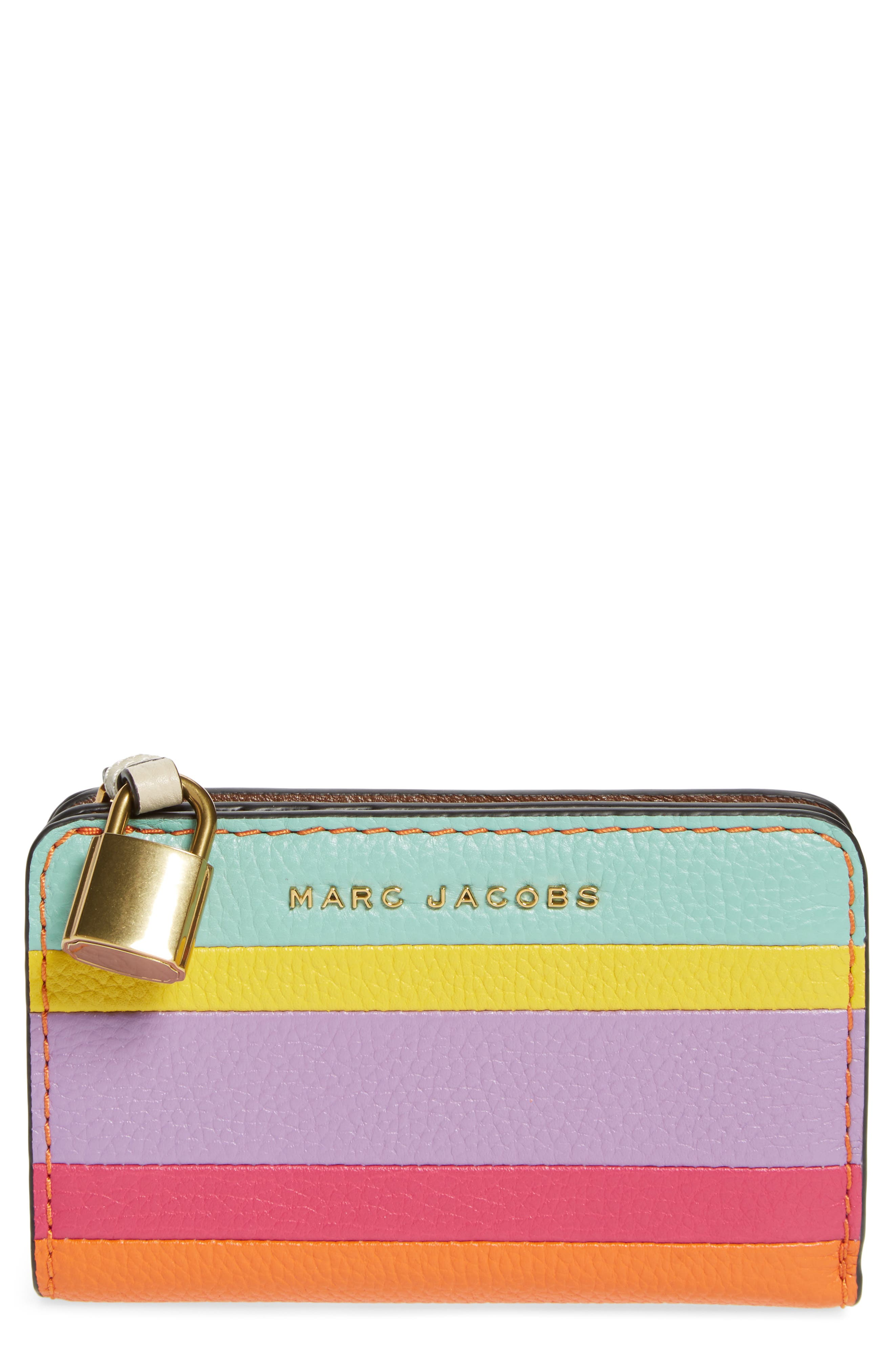 The Grind Compact Leather Wallet,                             Main thumbnail 1, color,                             Mandarin Multi