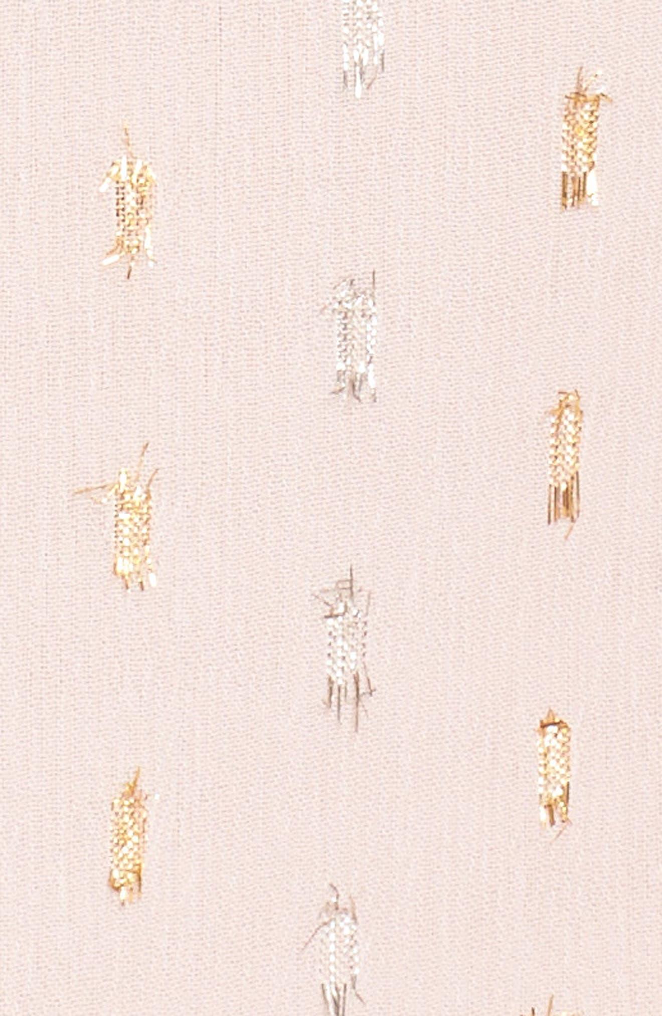 Flora Fade Drape Dress,                             Alternate thumbnail 6, color,                             Print