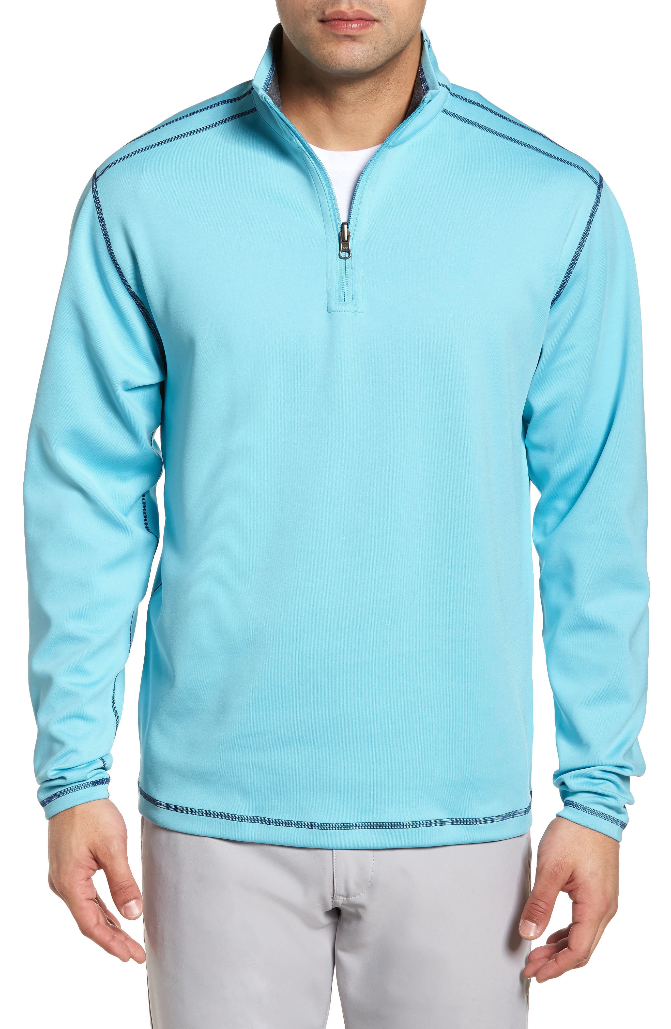 Alternate Image 1 Selected - Cutter & Buck Evergreen Classic Fit DryTec Reversible Half Zip Pullover