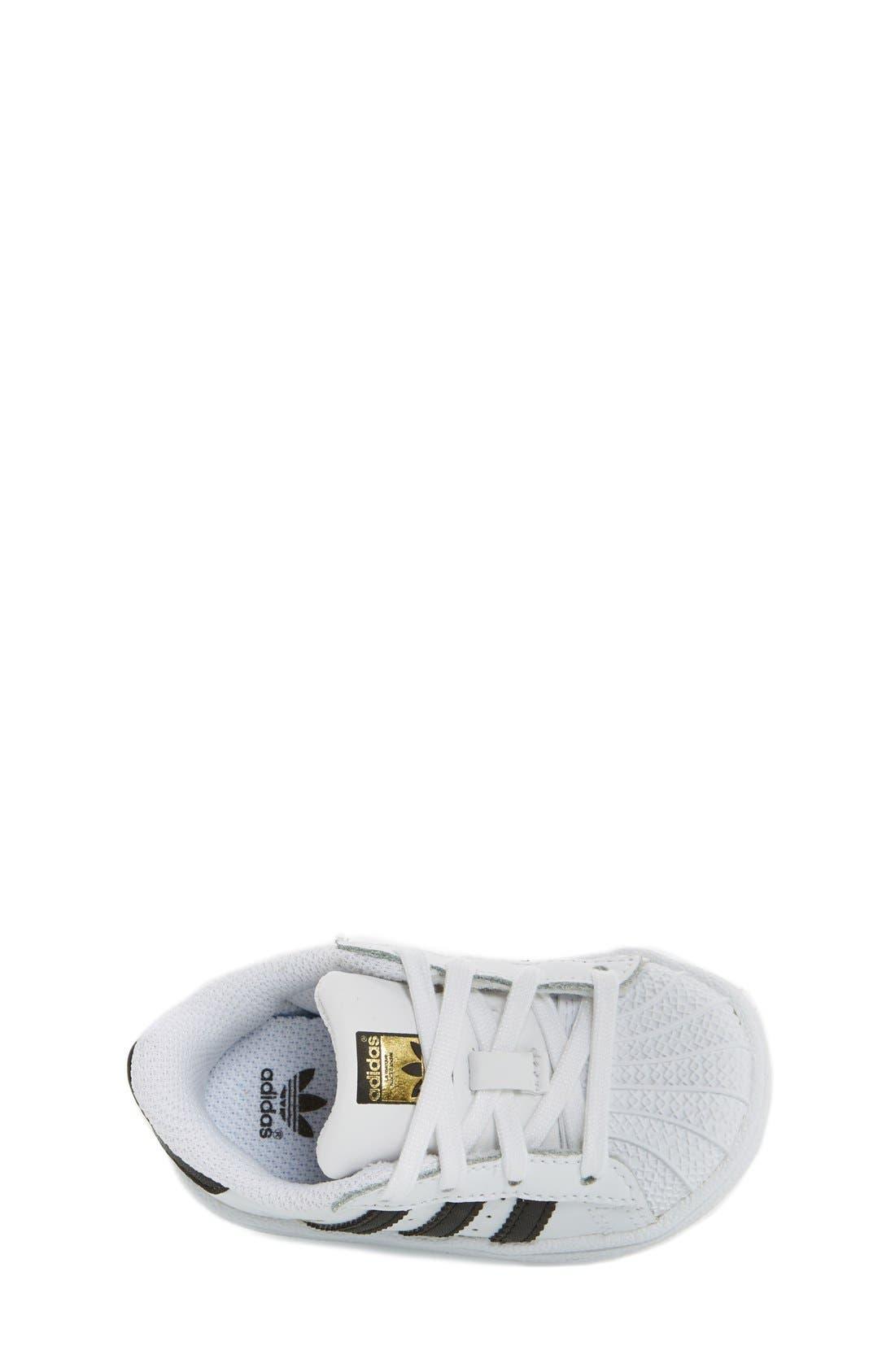 'Superstar' Sneaker,                             Alternate thumbnail 3, color,                             White/ Black