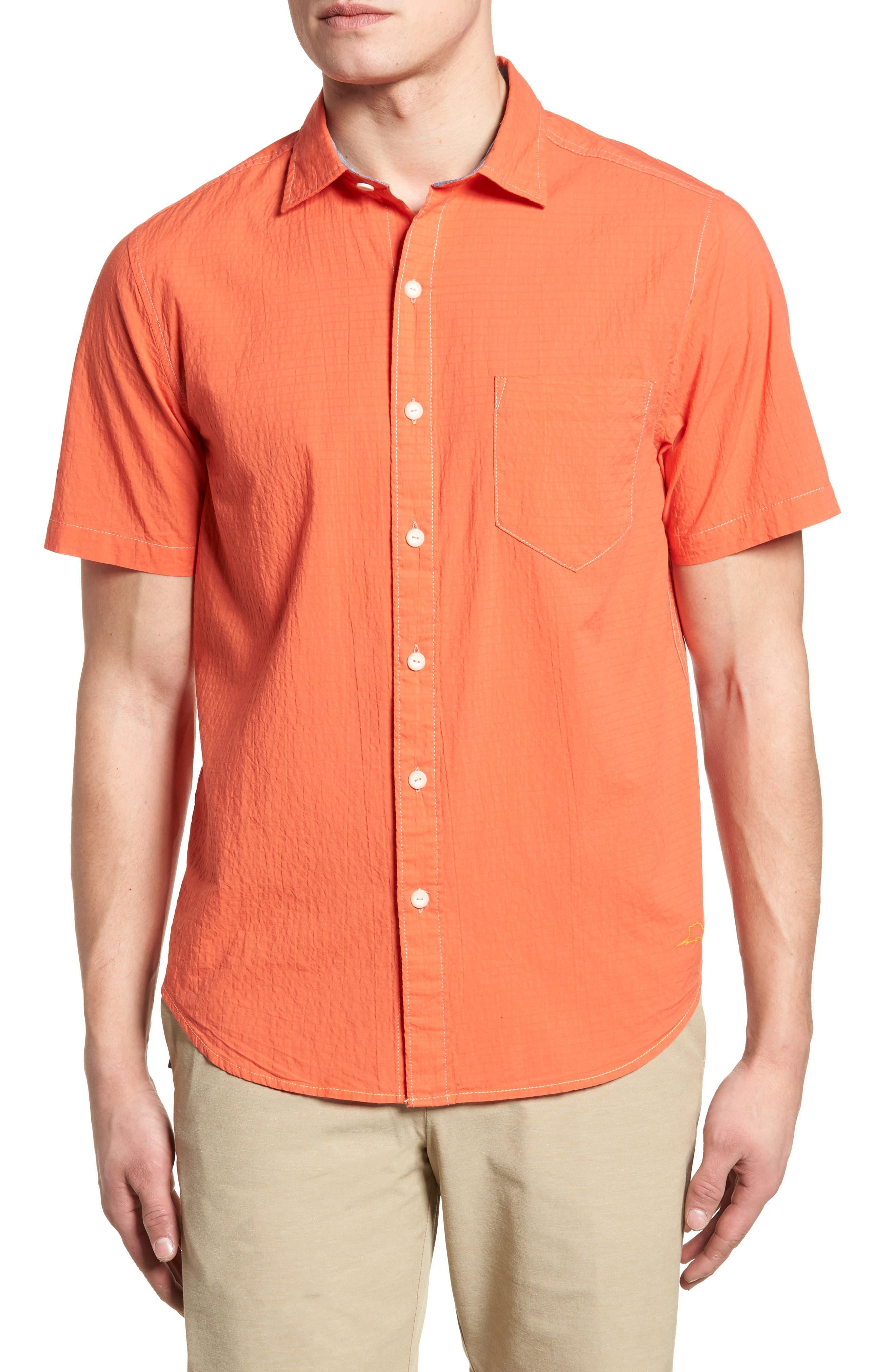 The Salvatore Standard Fit Sport Shirt,                             Main thumbnail 1, color,                             Burnt Coral