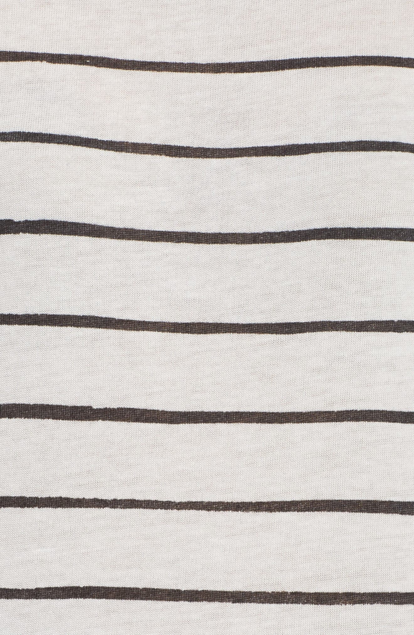 Ideal Print Tee,                             Alternate thumbnail 6, color,                             Eco Ivory Ink Stripe