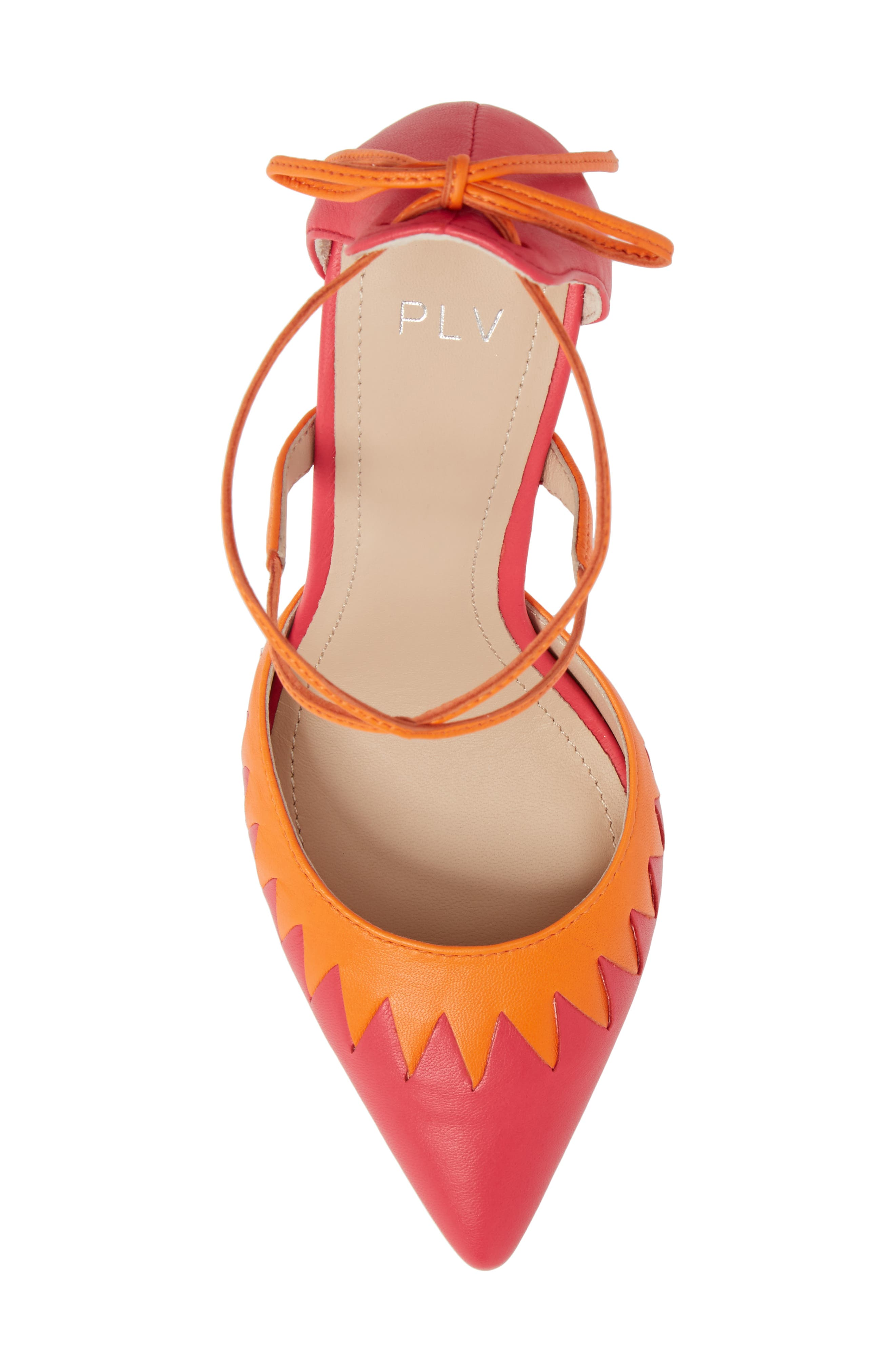 Cenya Pump,                             Alternate thumbnail 5, color,                             Azalea/ Orange Blossom Leather
