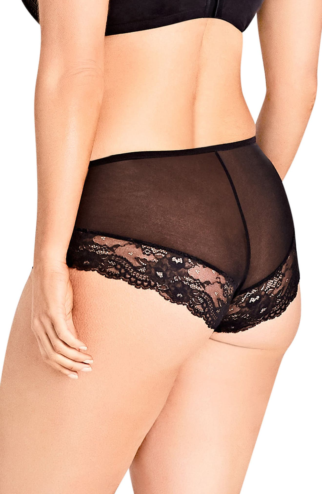 Alternate Image 2  - City Chic Prism Hipster Panties (Plus Size)