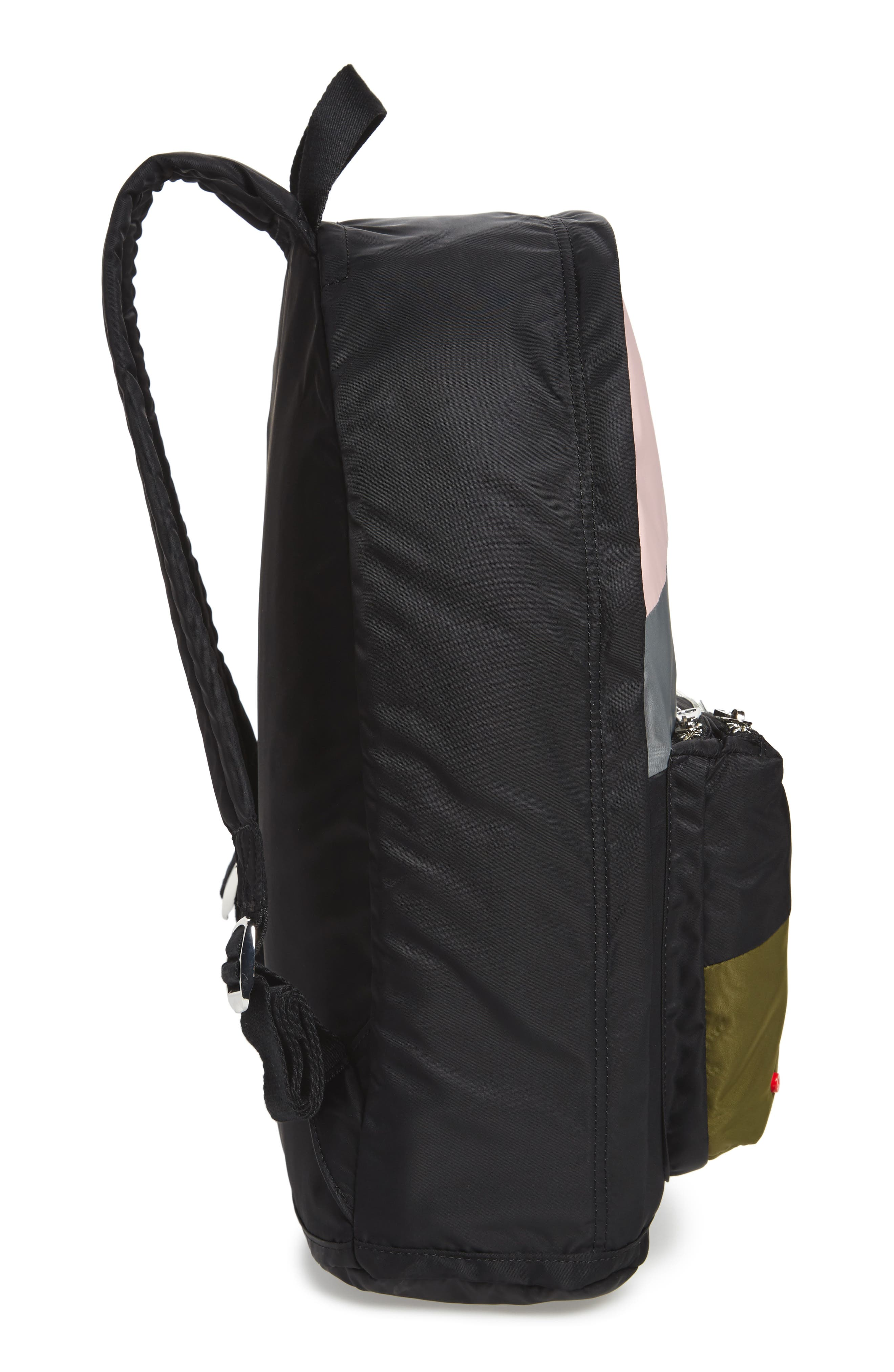 The Heights Lorimer Backpack,                             Alternate thumbnail 5, color,                             Black Stripe