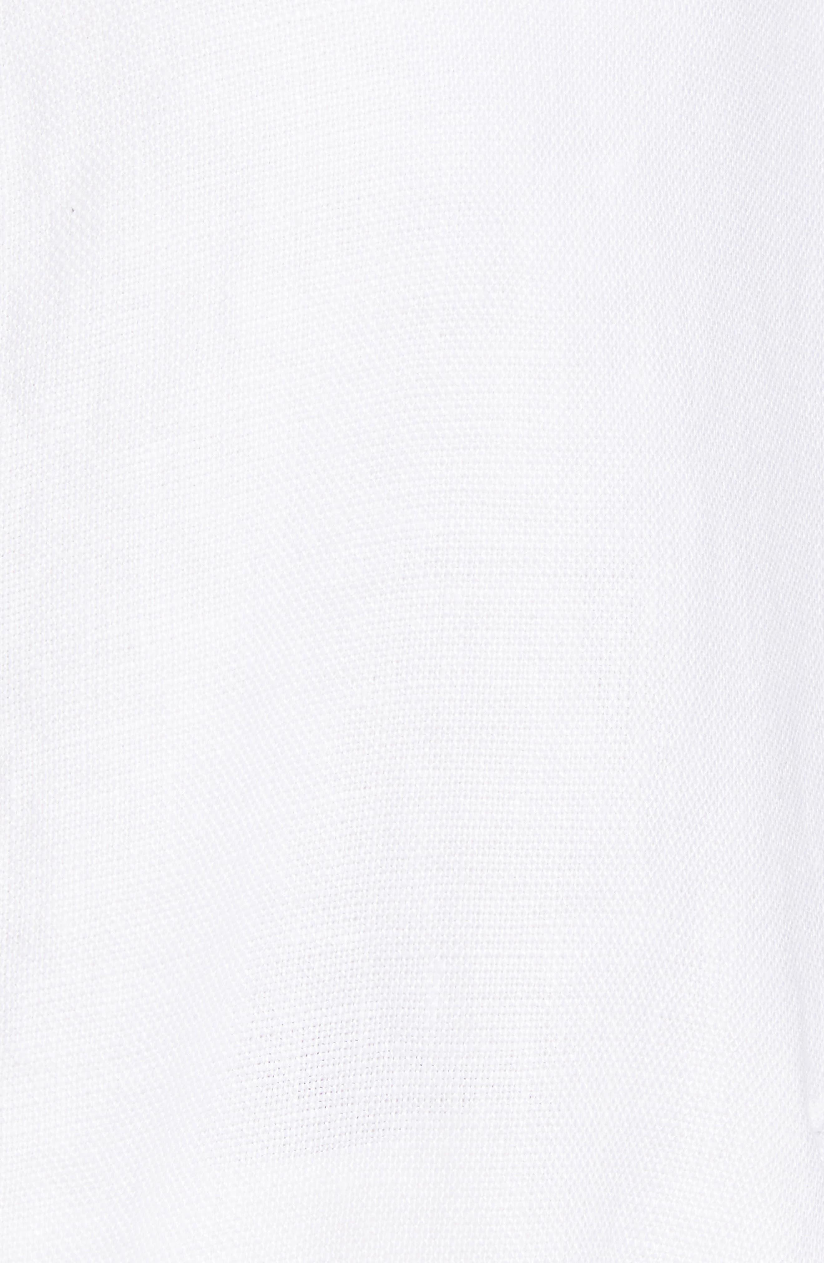 Drawstring Organic Linen Jacket,                             Alternate thumbnail 6, color,                             White