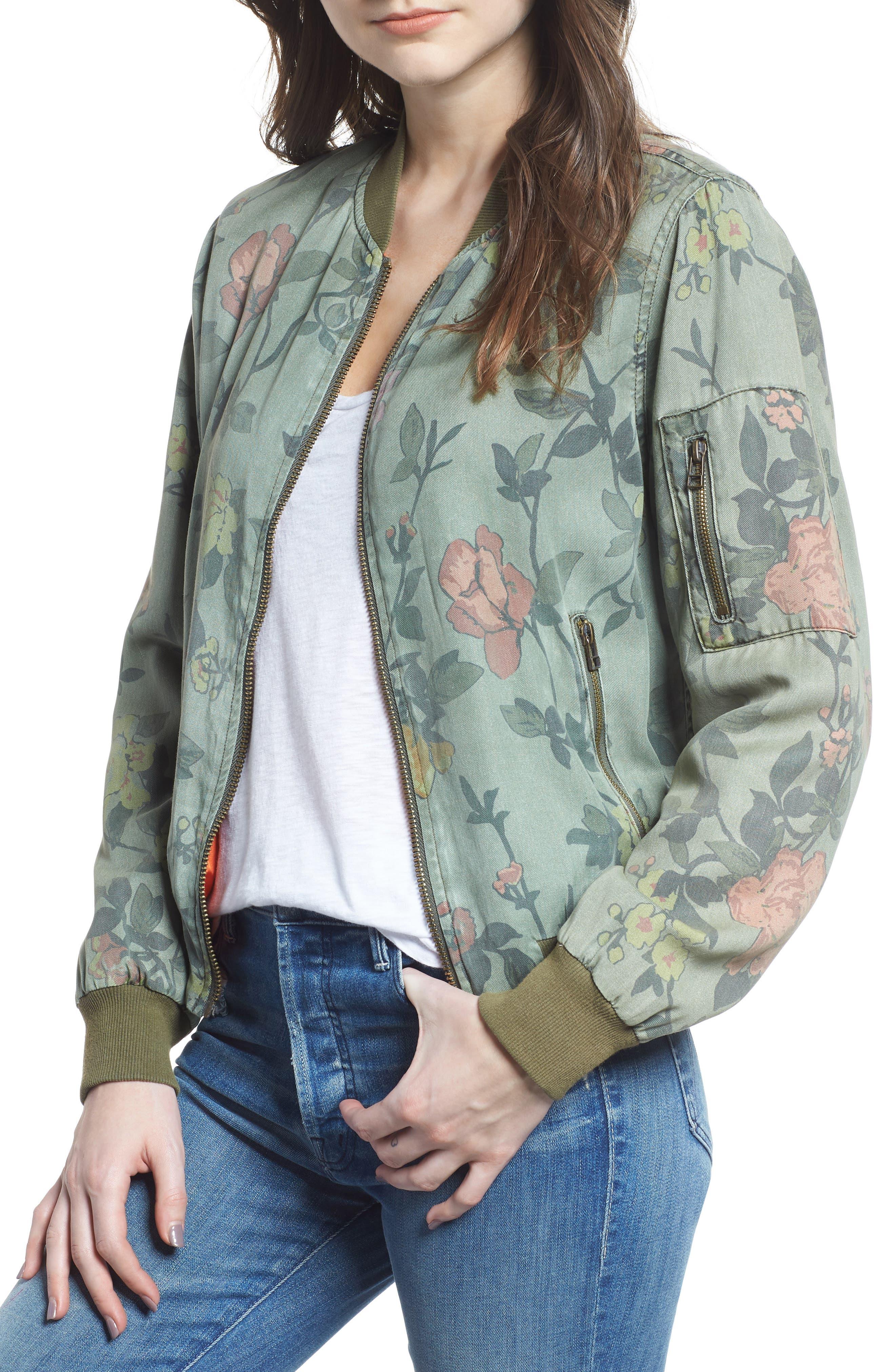 Pam & Gela Floral Bomber Jacket