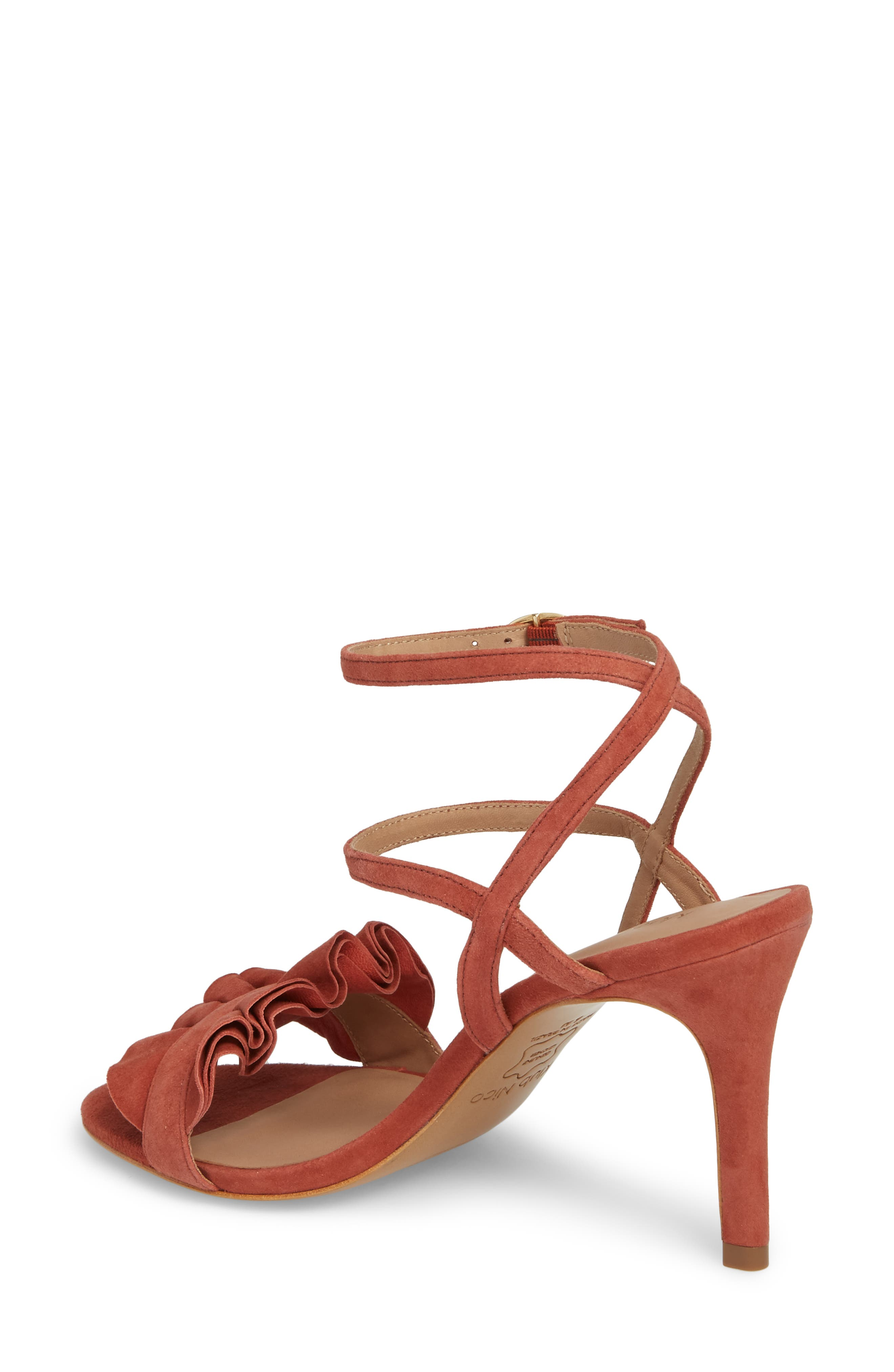 Ansley Sandal,                             Alternate thumbnail 2, color,                             Spice Suede