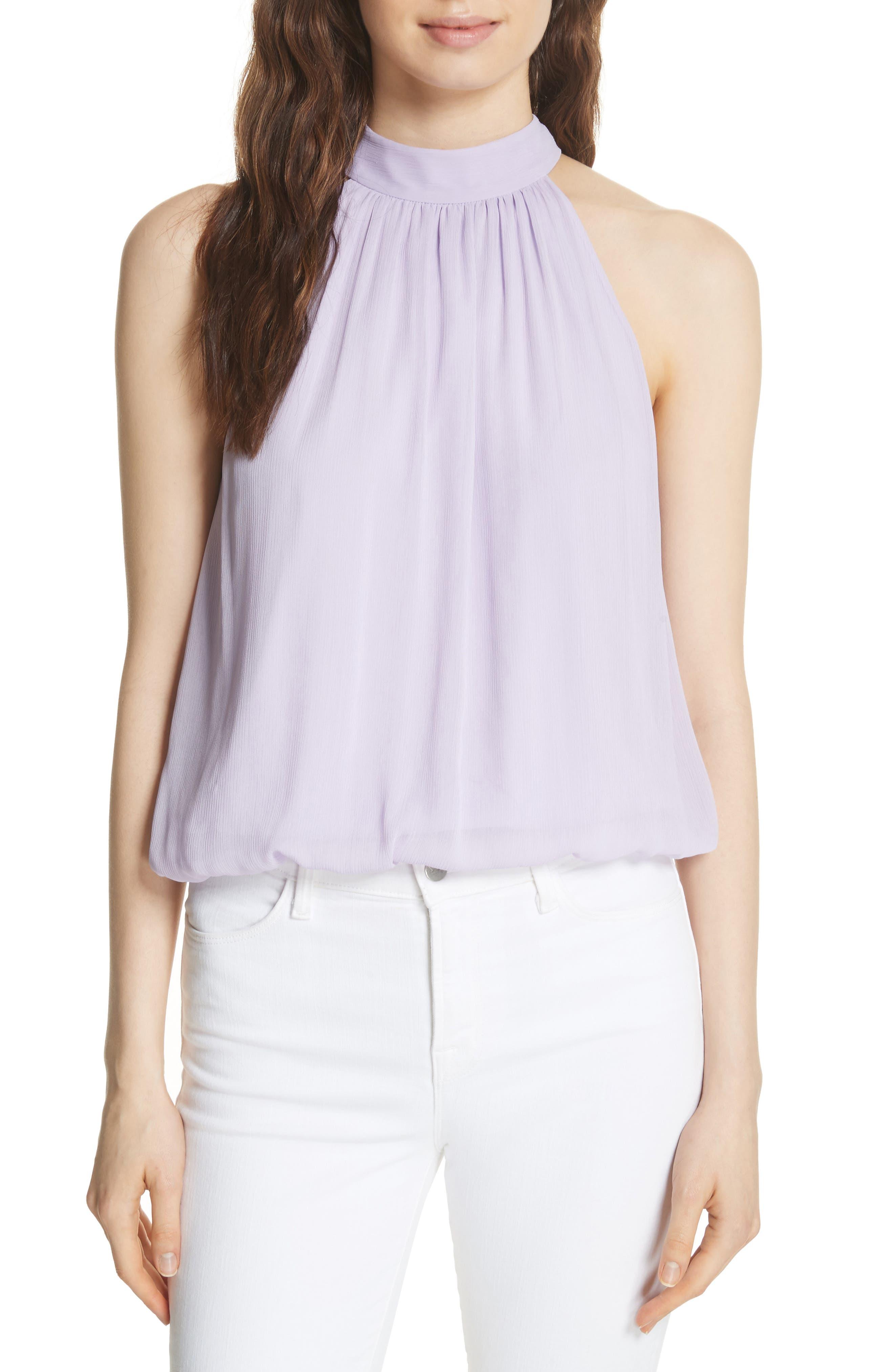 Maris Tie Back Top,                         Main,                         color, Lilac