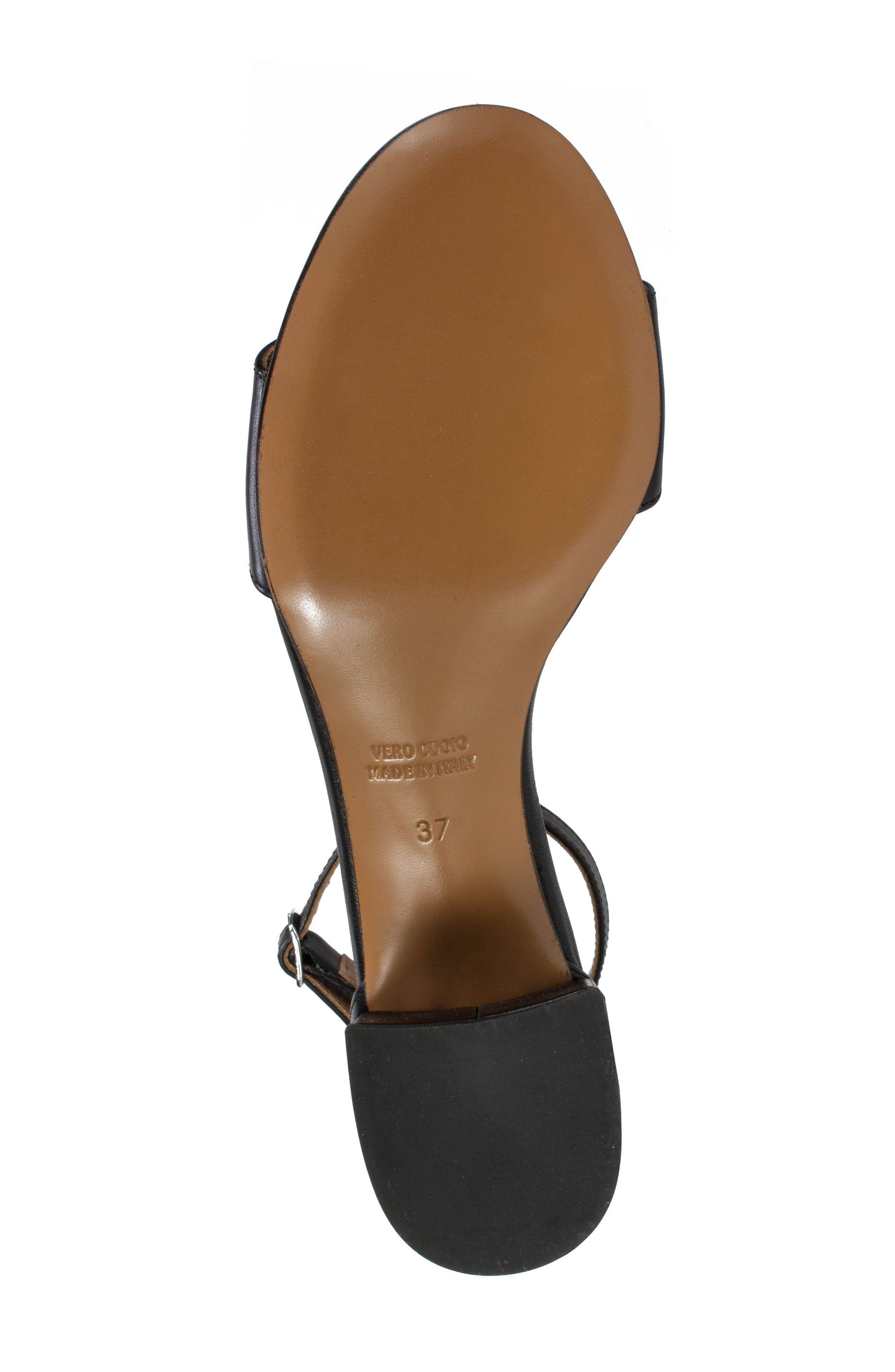 Ameila Block Heel Sandal,                             Alternate thumbnail 6, color,                             Black Leather