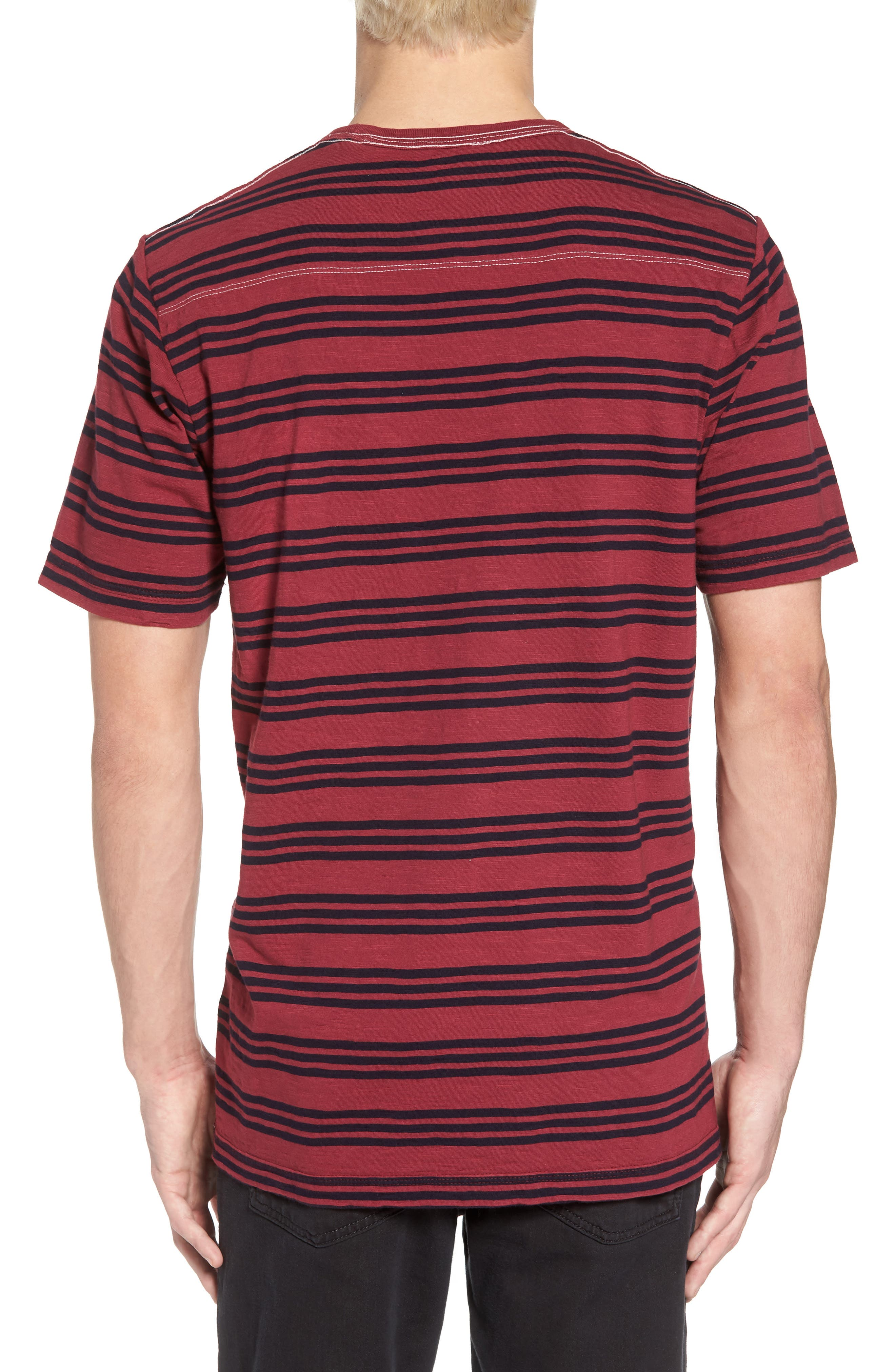 Alternate Image 2  - French Connection Triple Stripe Garment Dyed T-Shirt