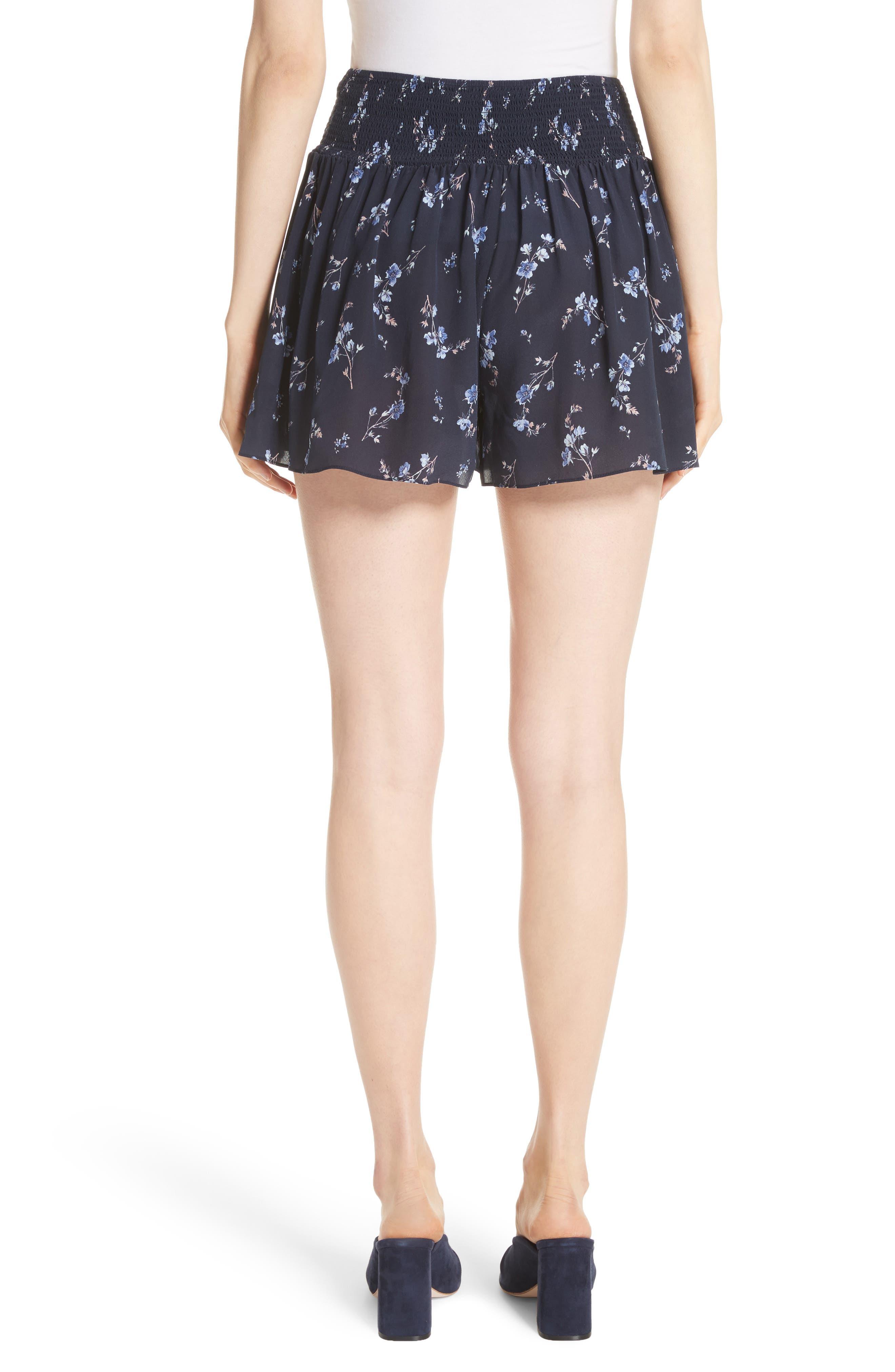Alternate Image 2  - Rebecca Taylor Francine Floral Silk Shorts
