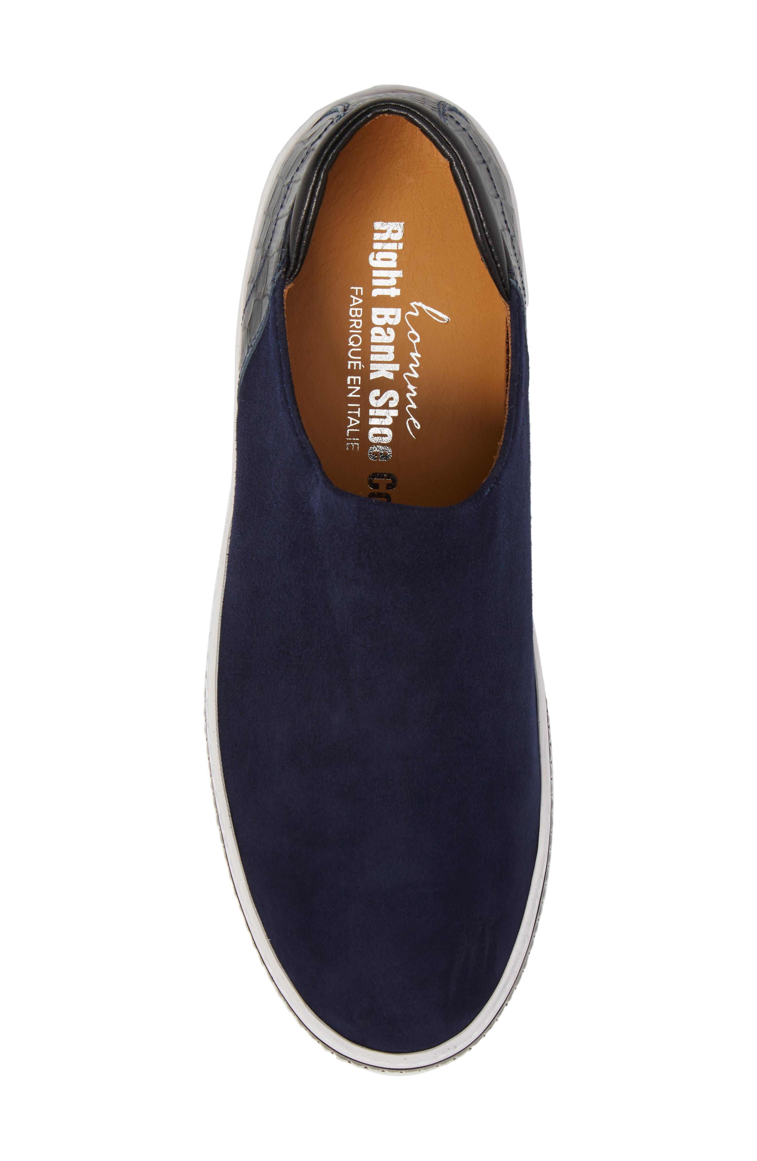 Stan Slip-On Sneaker,                             Alternate thumbnail 5, color,                             Midnight Blue Suede