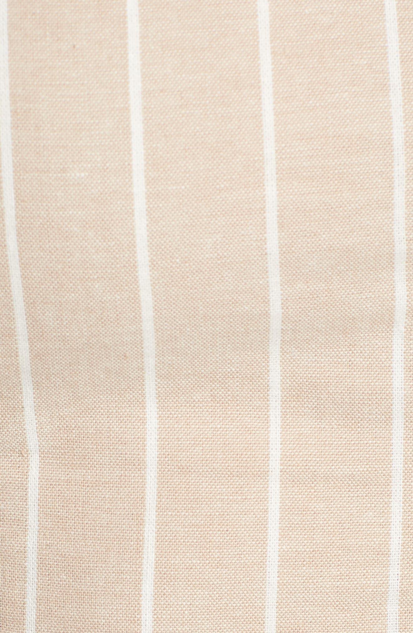 Stripe Crop Top,                             Alternate thumbnail 6, color,                             Beige Morn