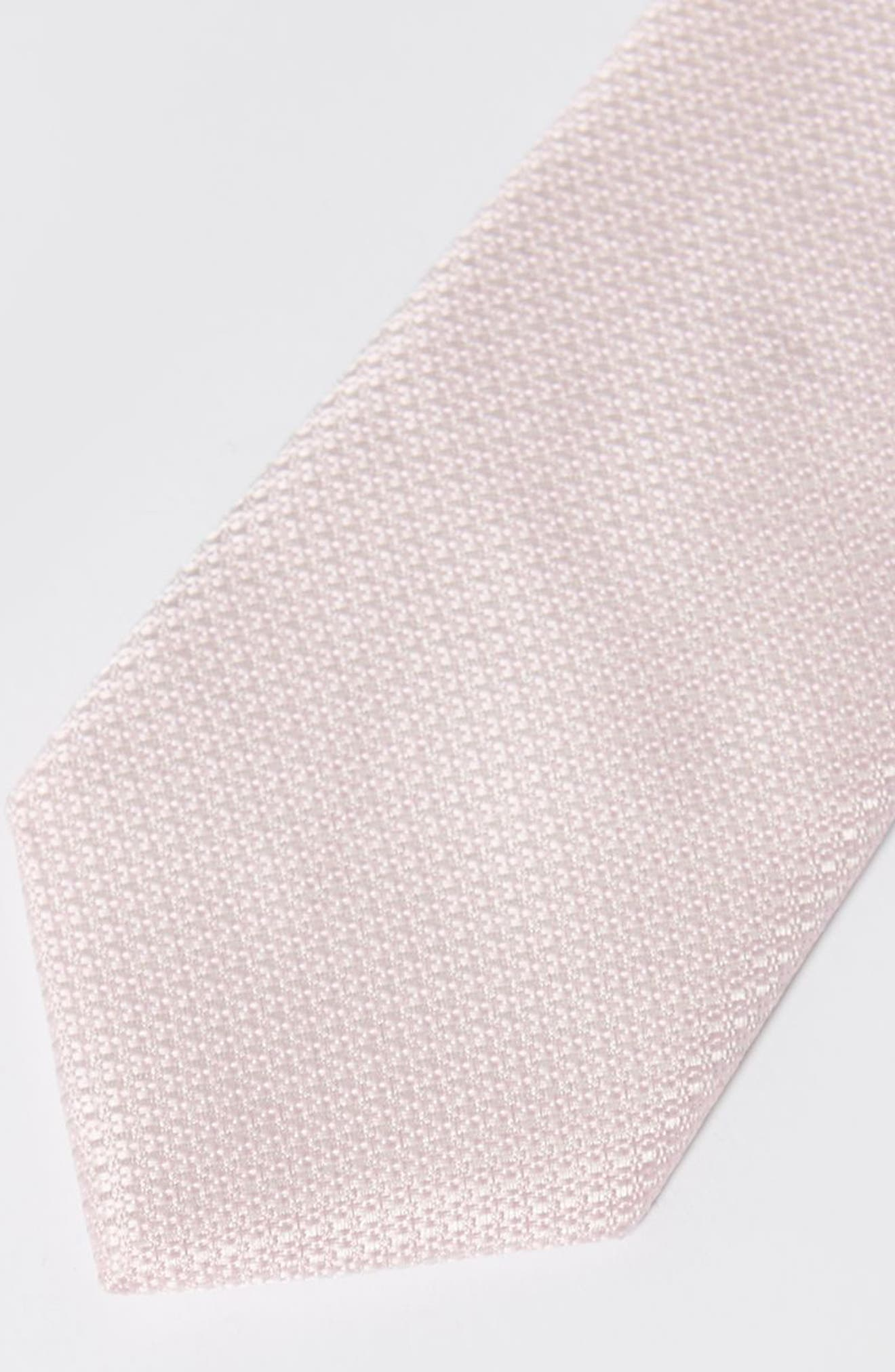 Textured Woven Tie,                             Alternate thumbnail 2, color,                             Pink