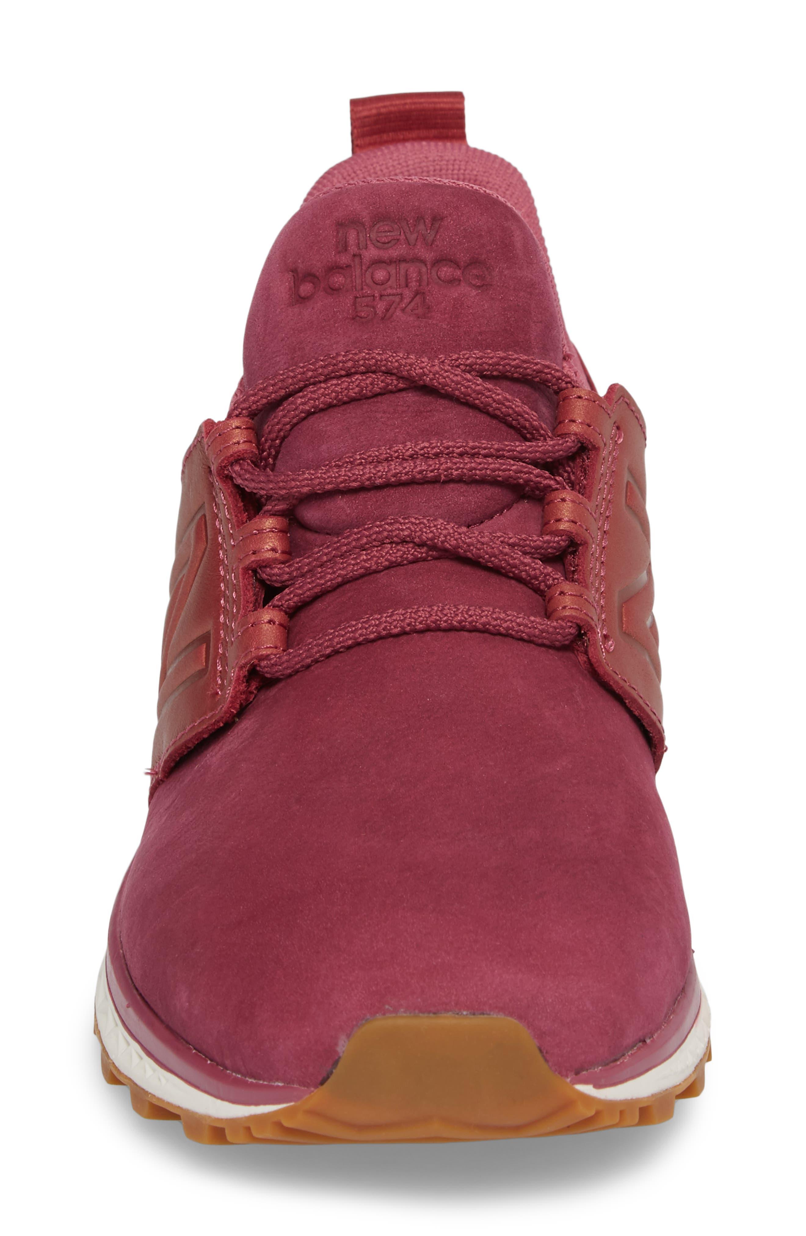 Nubuck 574 Sport Sneaker,                             Alternate thumbnail 4, color,                             Dragon Fruit