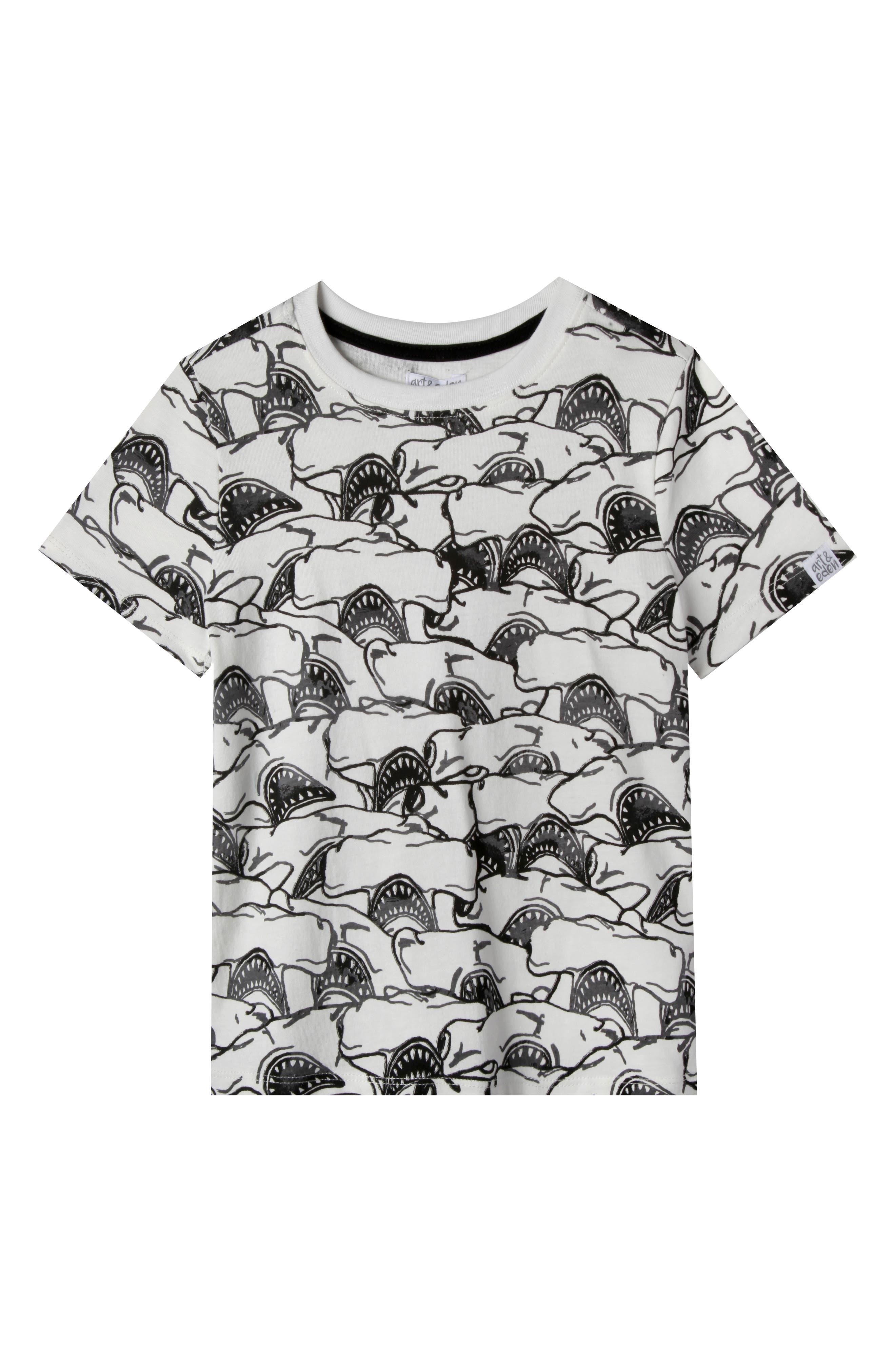 Henry Organic Cotton T-Shirt,                         Main,                         color, Black