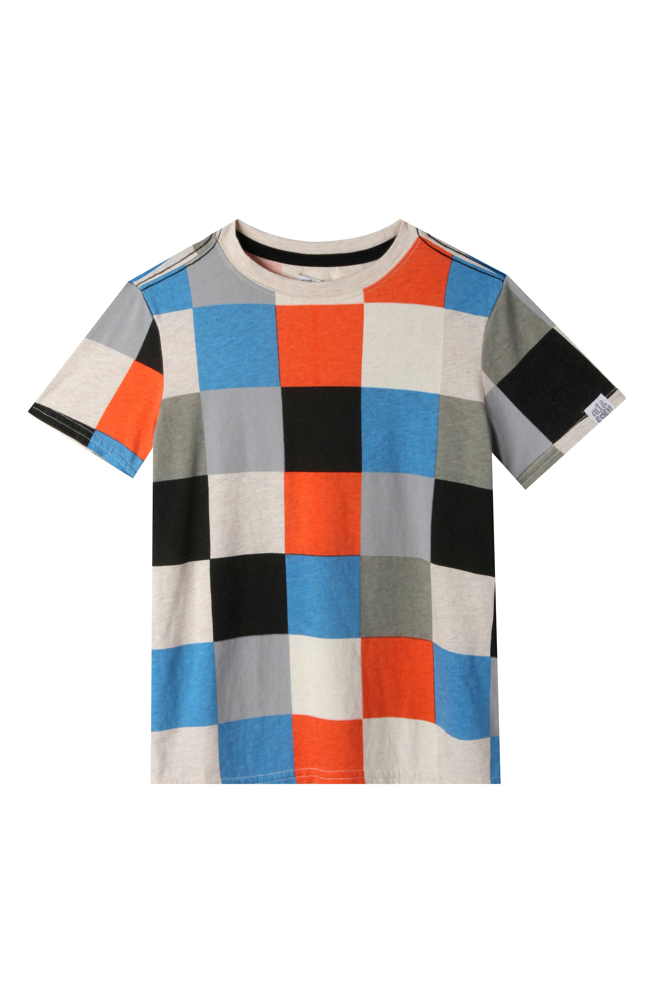 Alternate Image 1 Selected - Art & Eden Landon Check Organic Cotton T-Shirt (Toddler Boys, Little Boys & Big Boys)