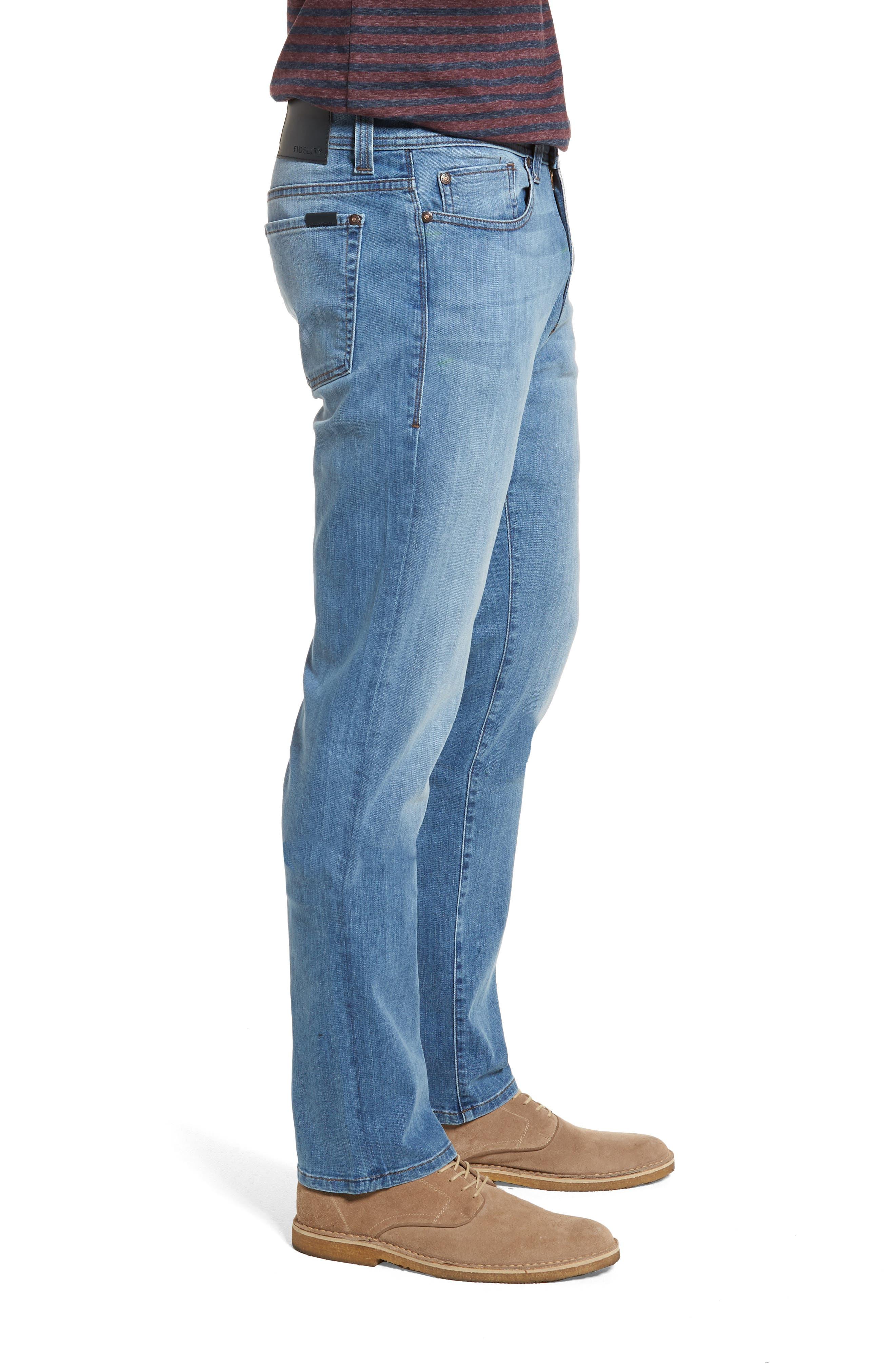 Jimmy Slim Straight Fit Jeans,                             Alternate thumbnail 3, color,                             Brixton Blue