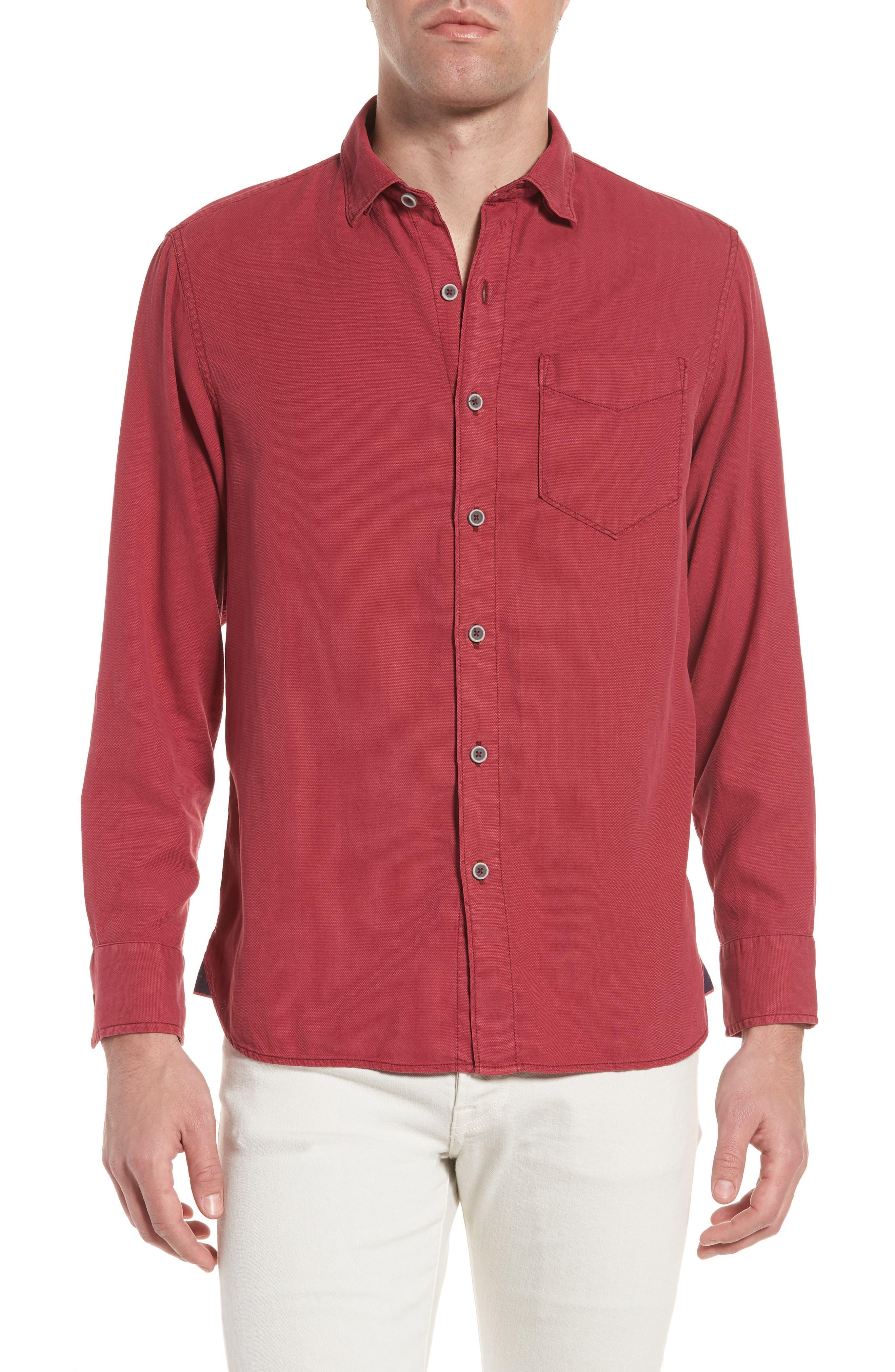 Alternate Image 1 Selected - Tommy Bahama Dobby Dylan Sport Shirt