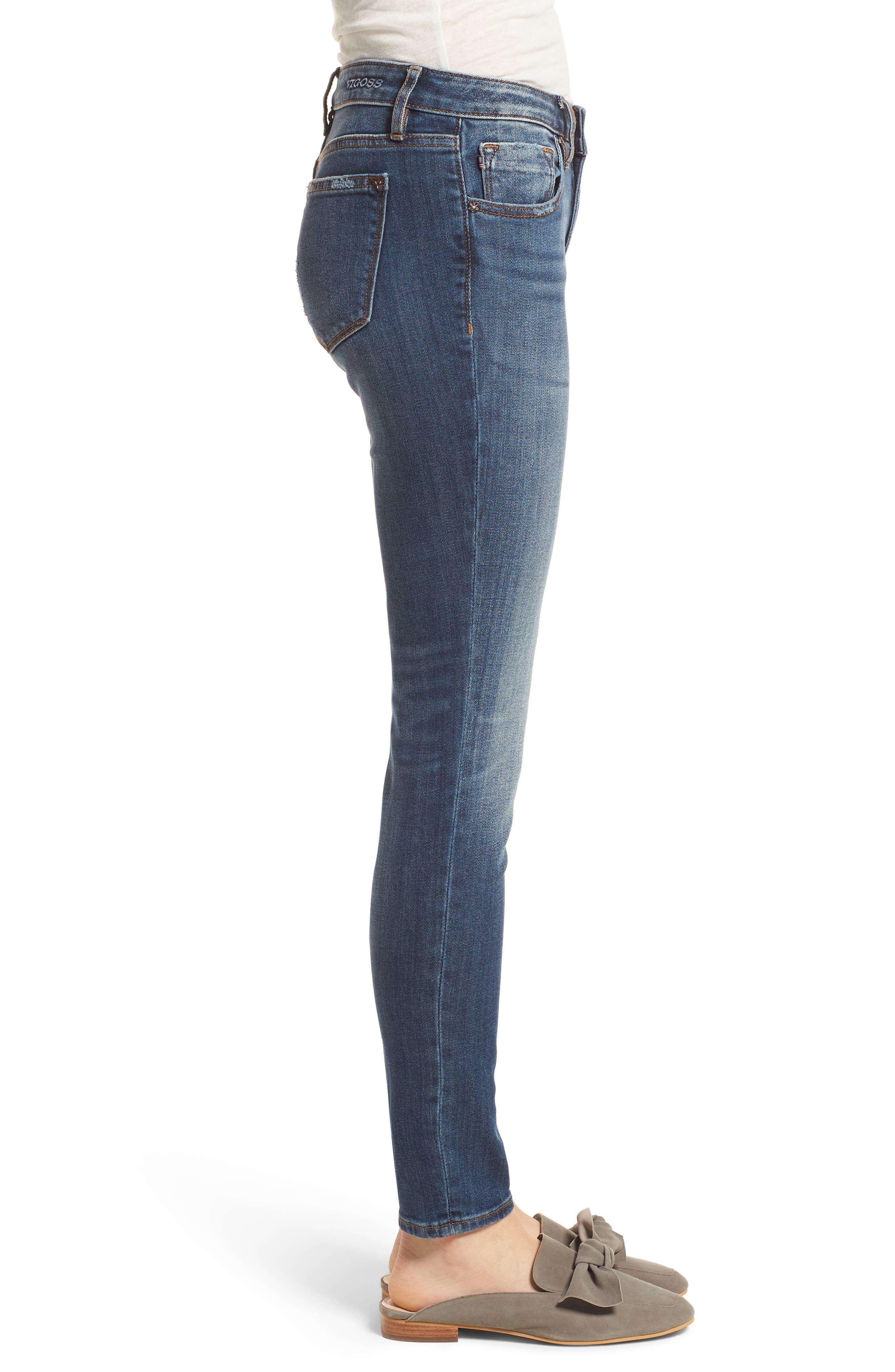 Jagger Skinny Jeans,                             Alternate thumbnail 3, color,                             Medium Wash