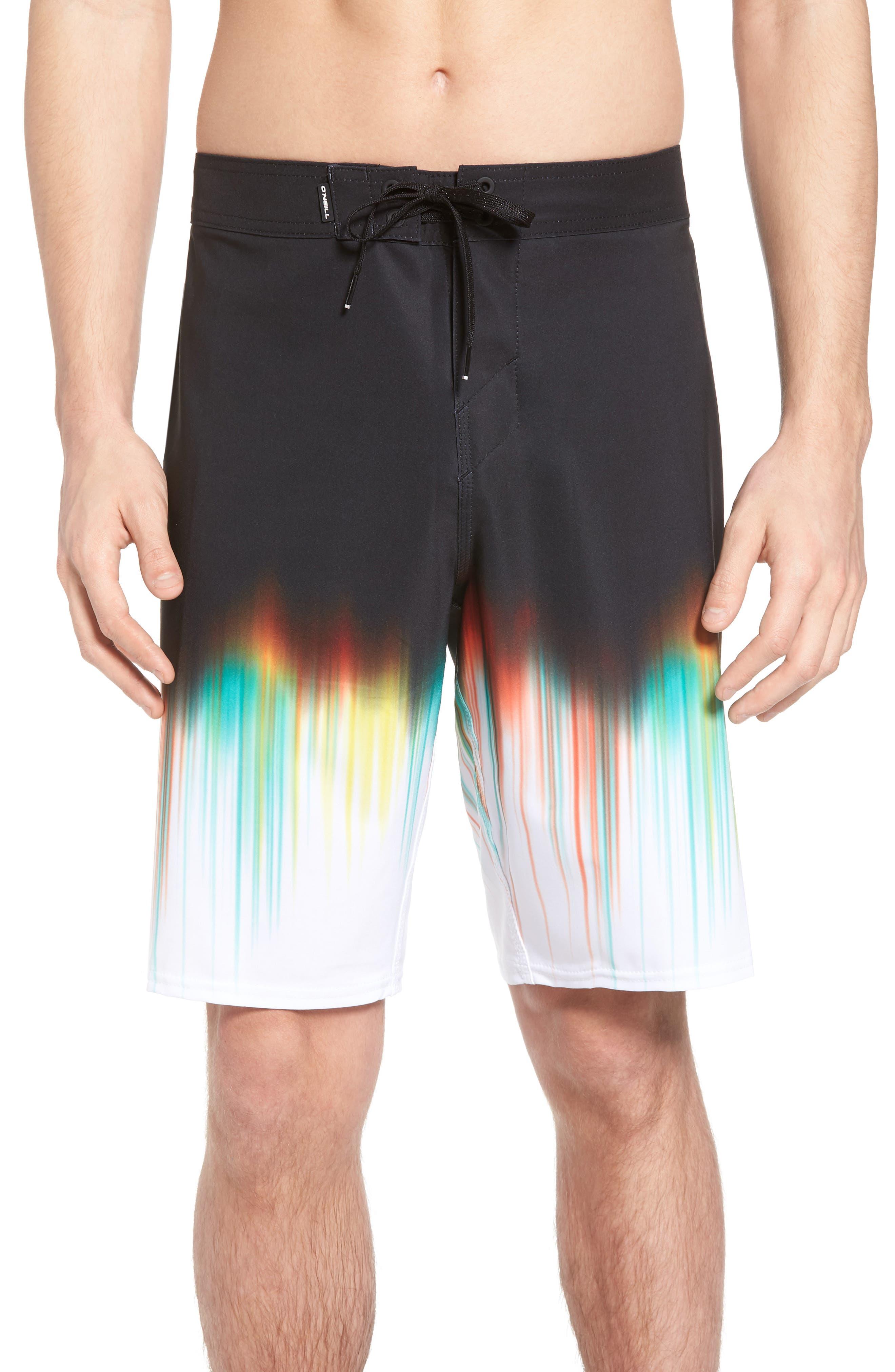 Hyperfreak Drippin' Board Shorts,                         Main,                         color, Black