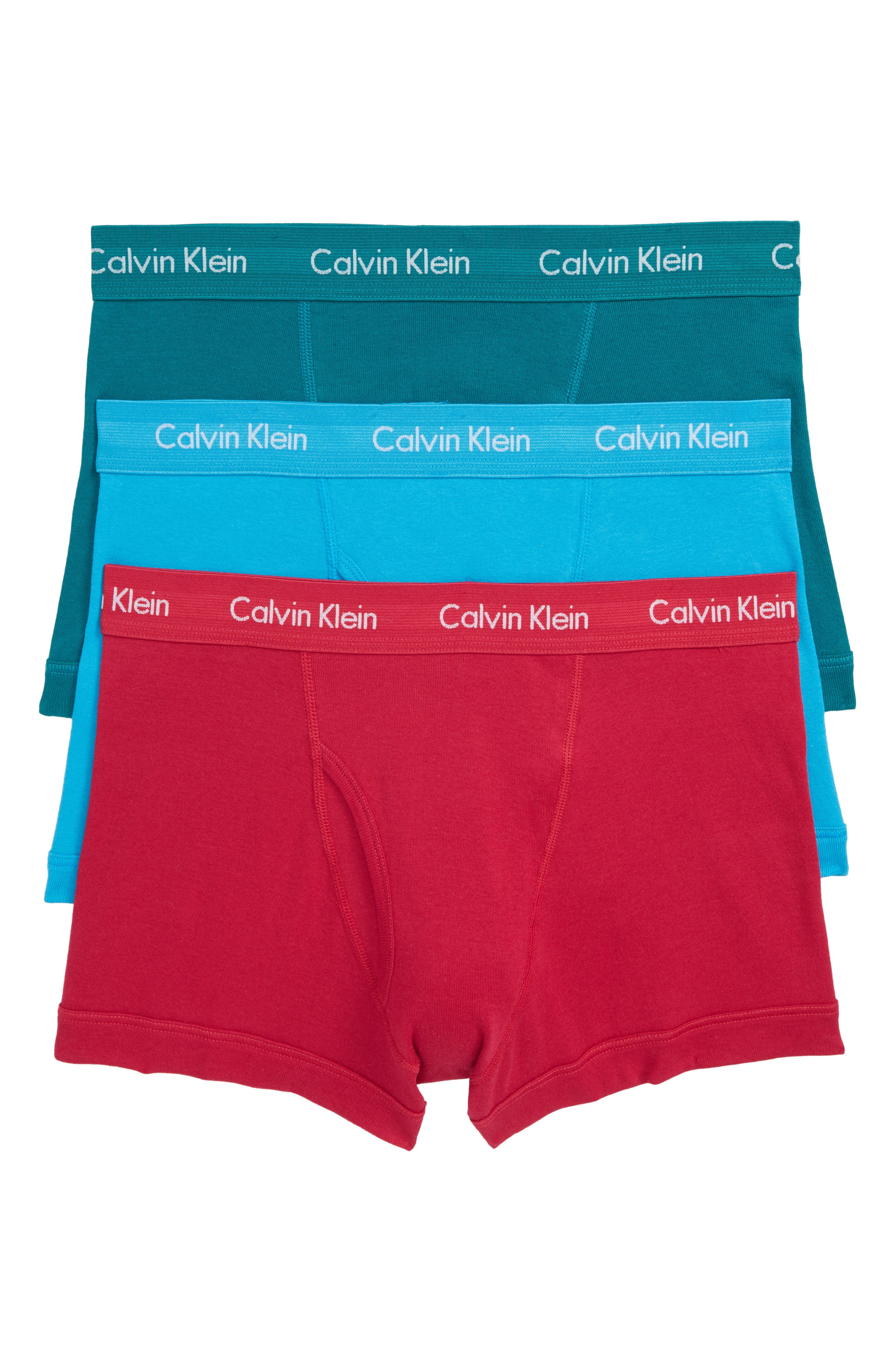 Main Image - Calvin Klein Cotton Trunks (3-Pack)