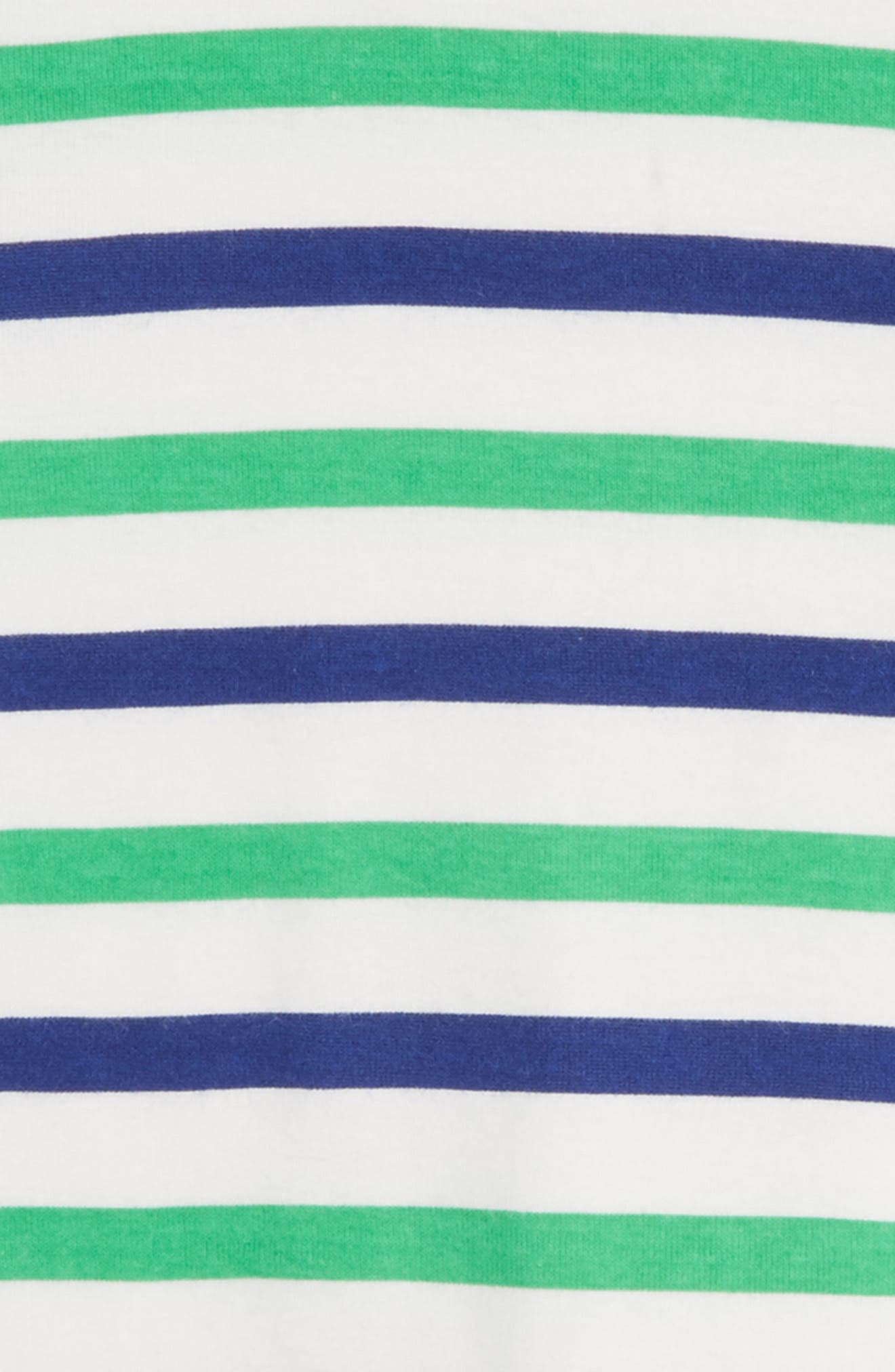 Cabana Stripe Fitted Two-Piece Pajamas,                             Alternate thumbnail 2, color,                             Emerald
