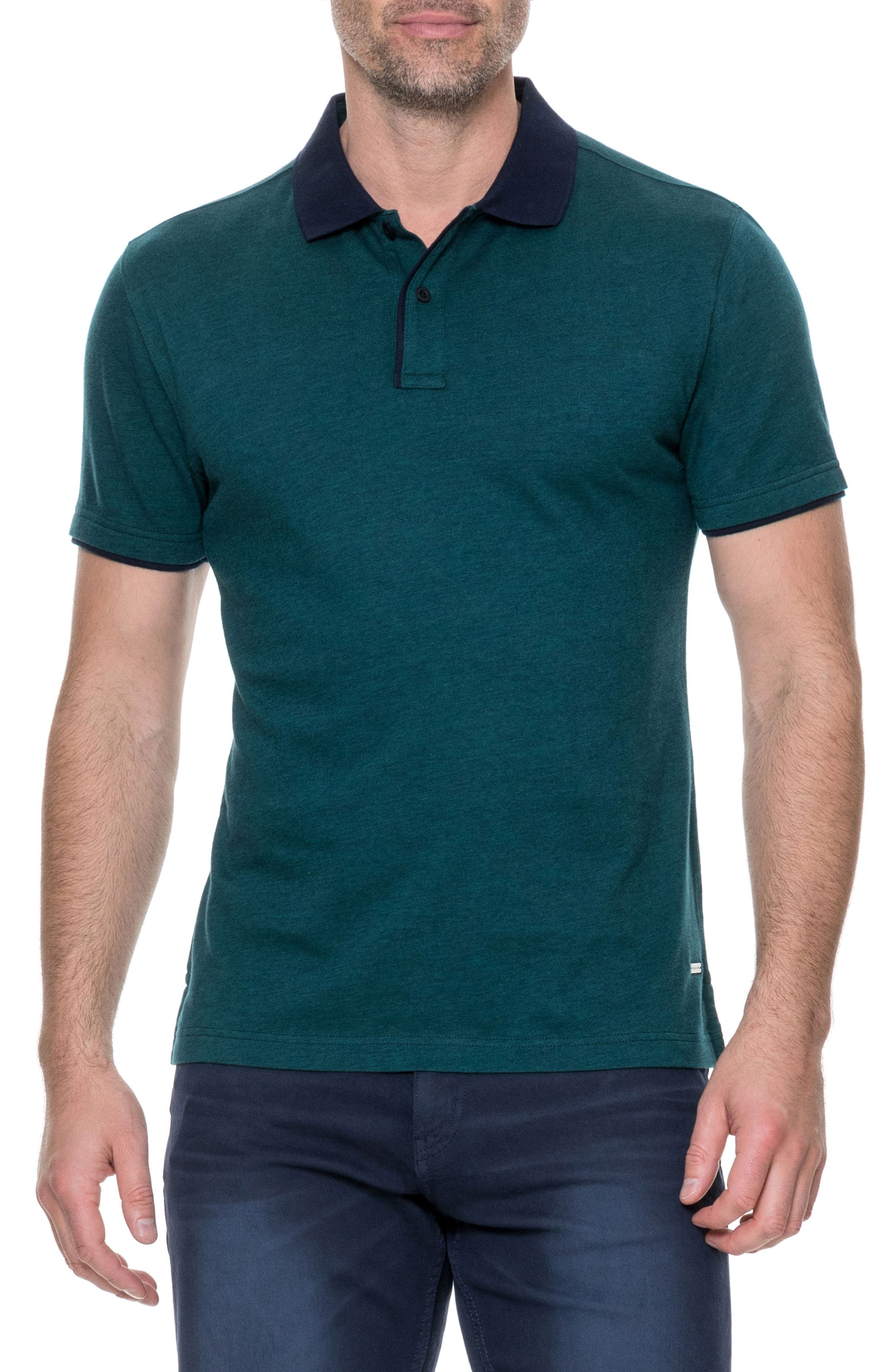 Boydtown Sports Fit Polo,                         Main,                         color, Jungle