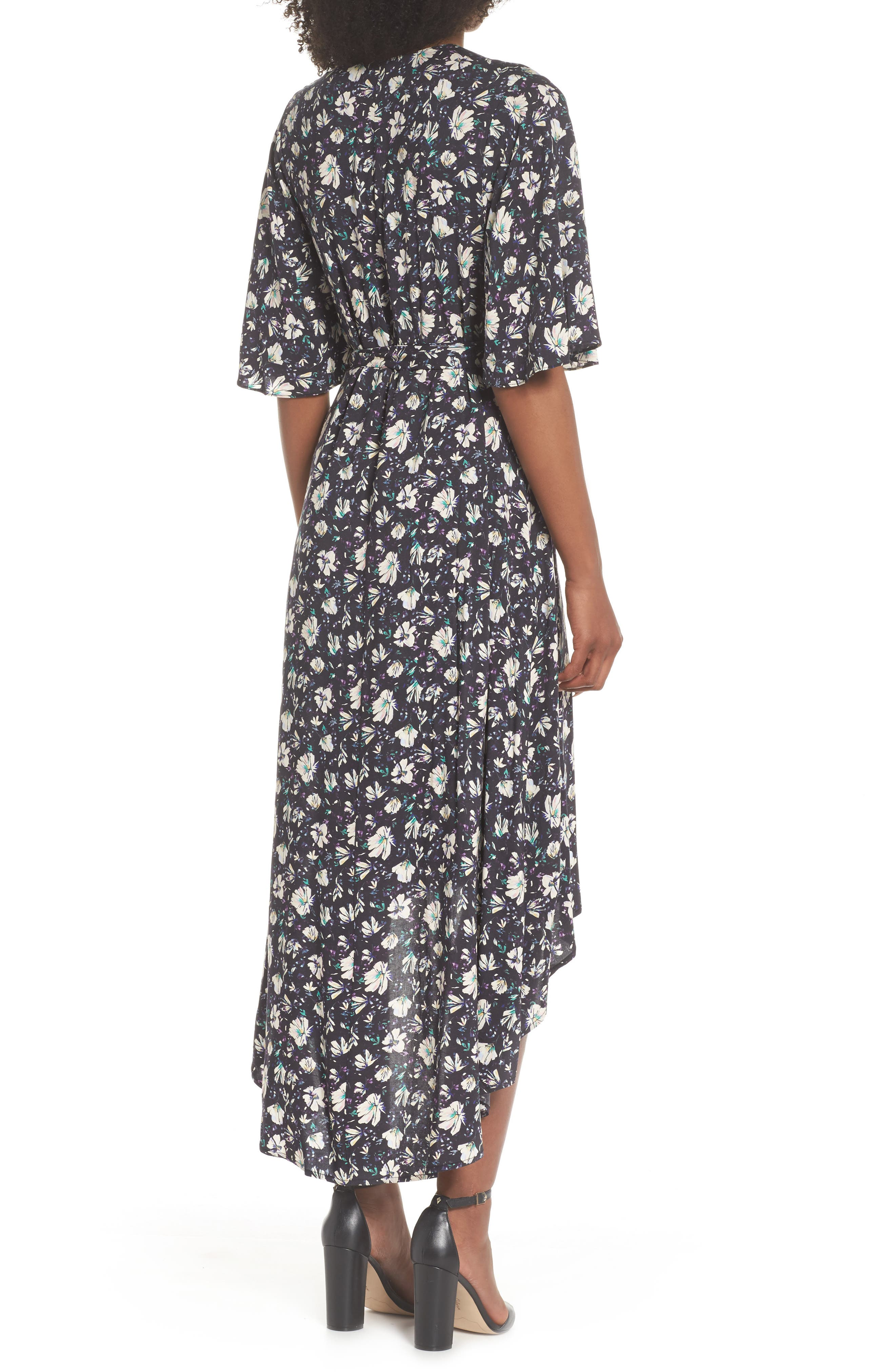 Lonny Floral Wrap Dress,                             Alternate thumbnail 2, color,                             London Floral