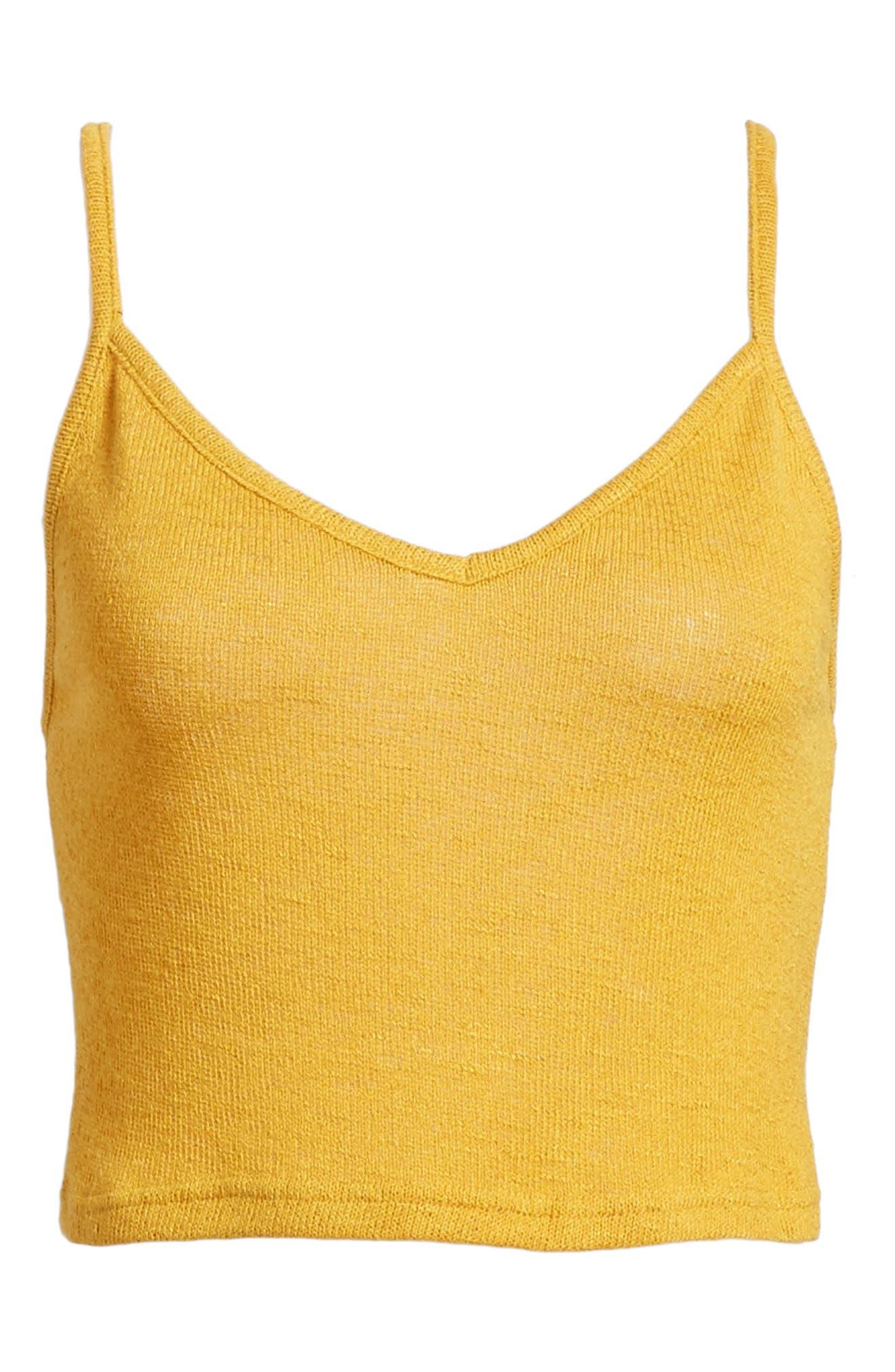Heat Rising Crop Camisole,                             Alternate thumbnail 8, color,                             Saffron