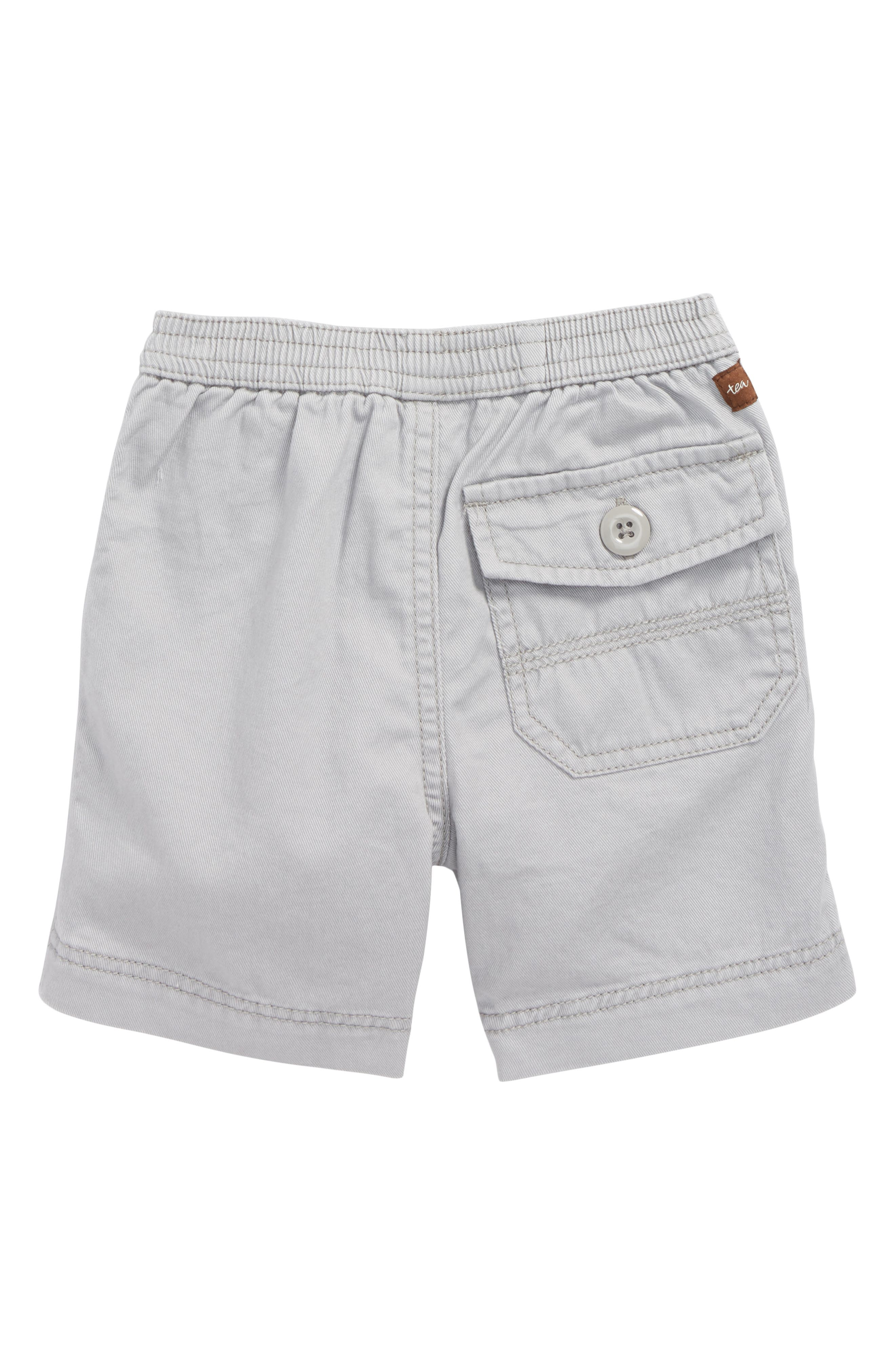 Easy Does It Twill Shorts,                             Alternate thumbnail 2, color,                             Storm Grey