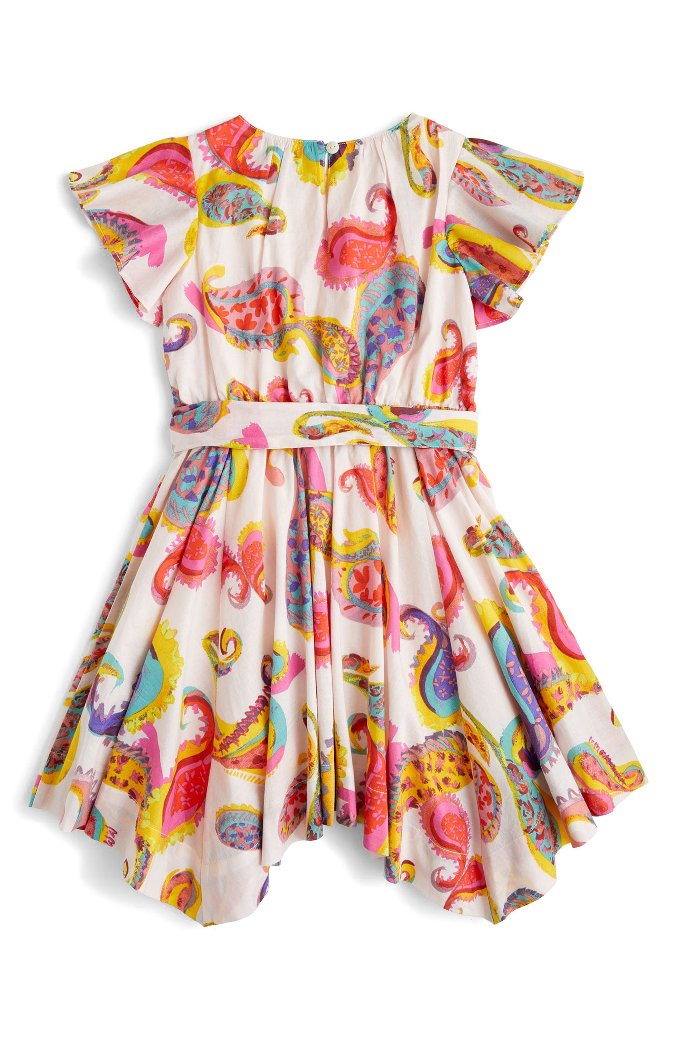 Paisley Handkerchief Dress,                             Alternate thumbnail 2, color,                             Peppermint Multi