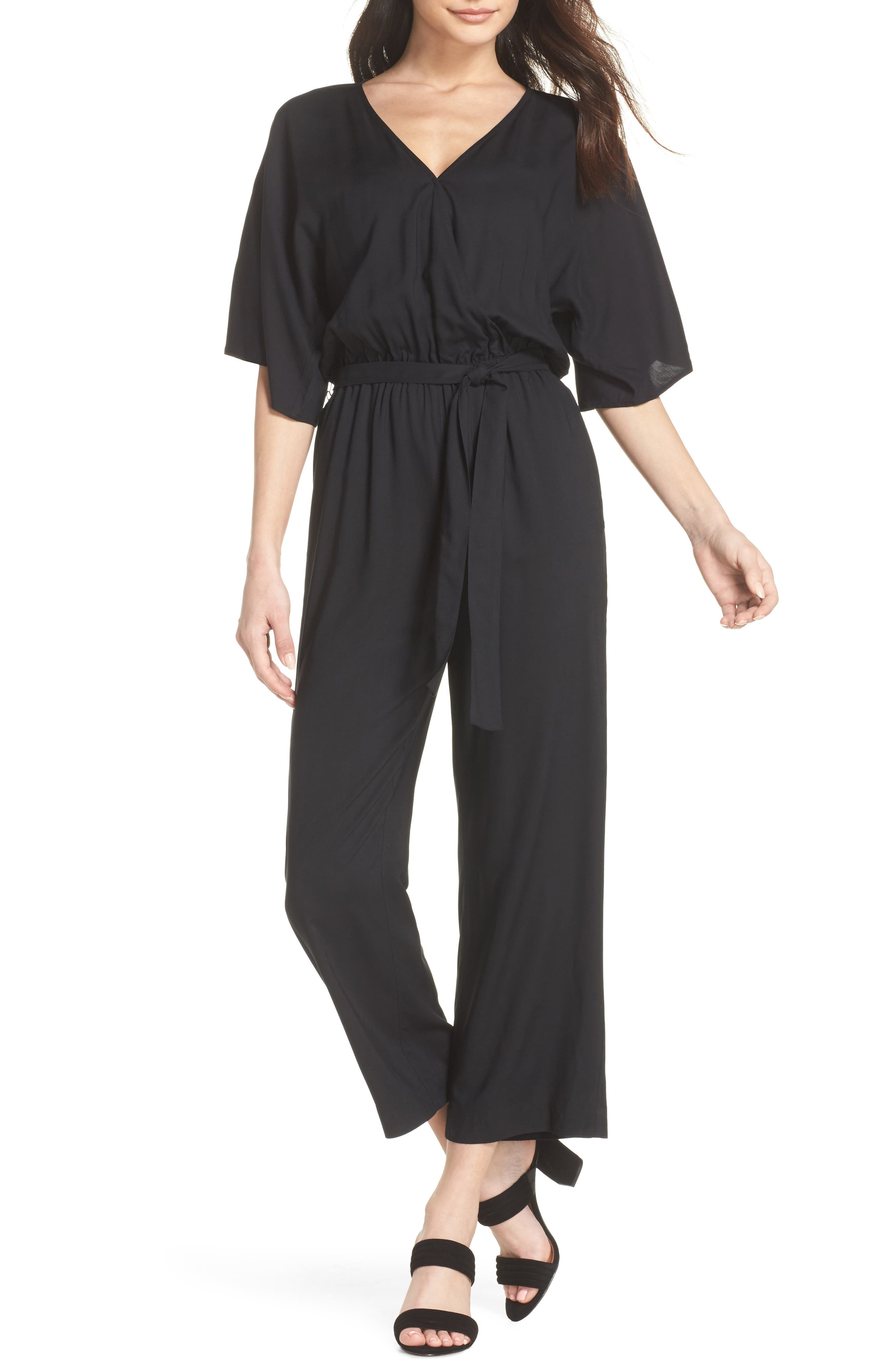 Vanette Jumpsuit,                         Main,                         color, Black