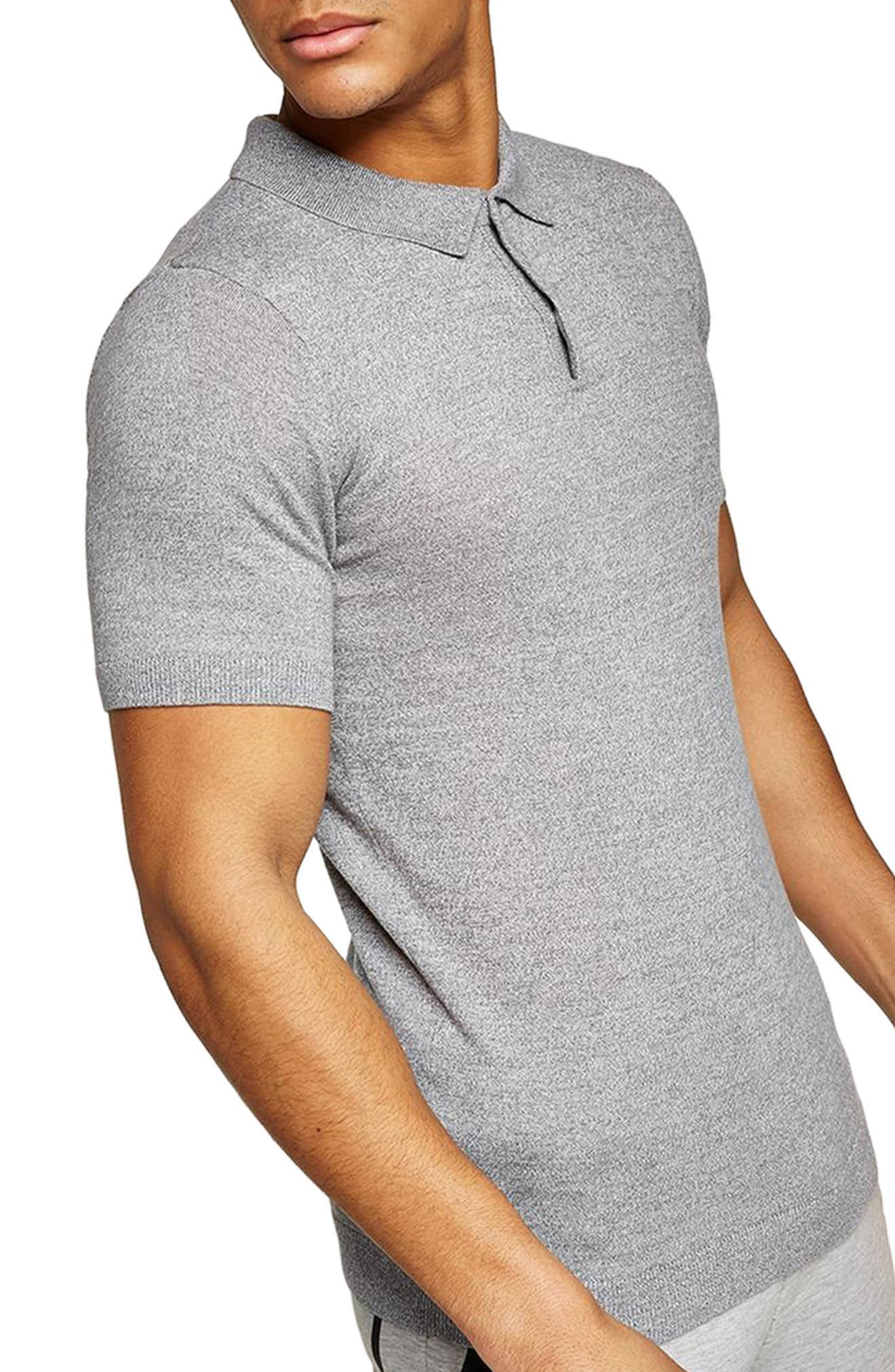 Topman Muscle Fit Jersey Polo
