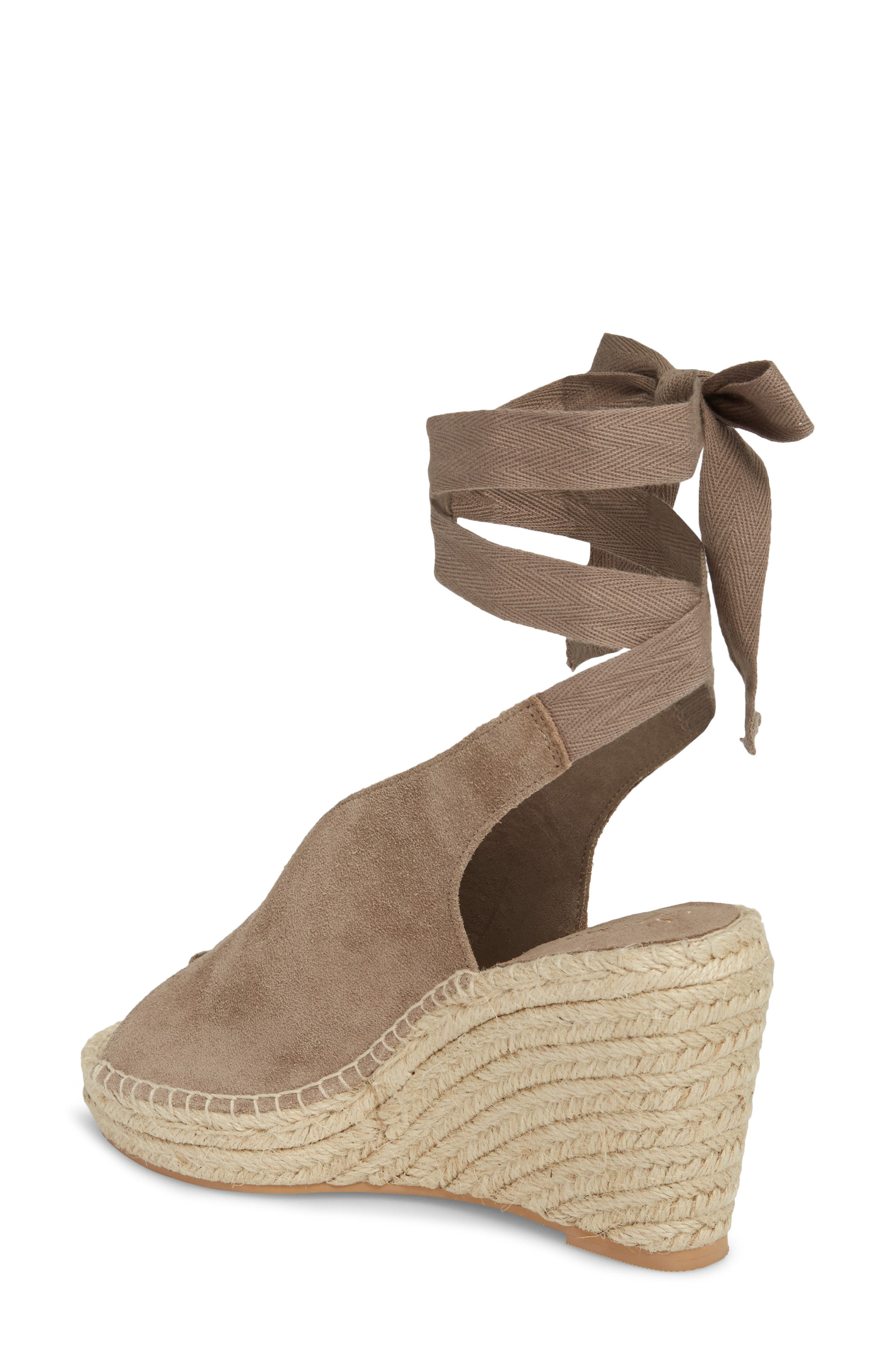 Interrelated Espadrille Wedge Sandal,                             Alternate thumbnail 2, color,                             Taupe Suede