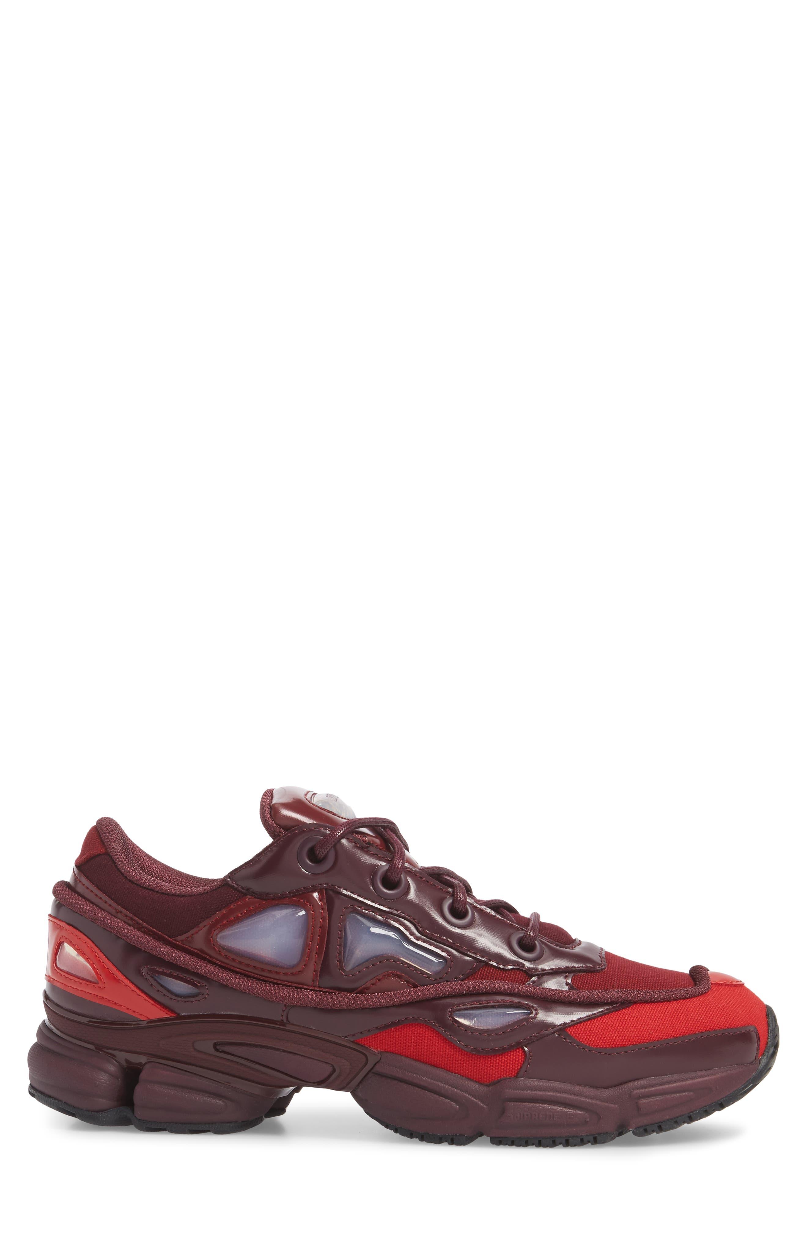 adidas by Raf Simons Ozweego III Sneaker,                             Alternate thumbnail 3, color,                             Burgundy/ Maroon/ Scarlet