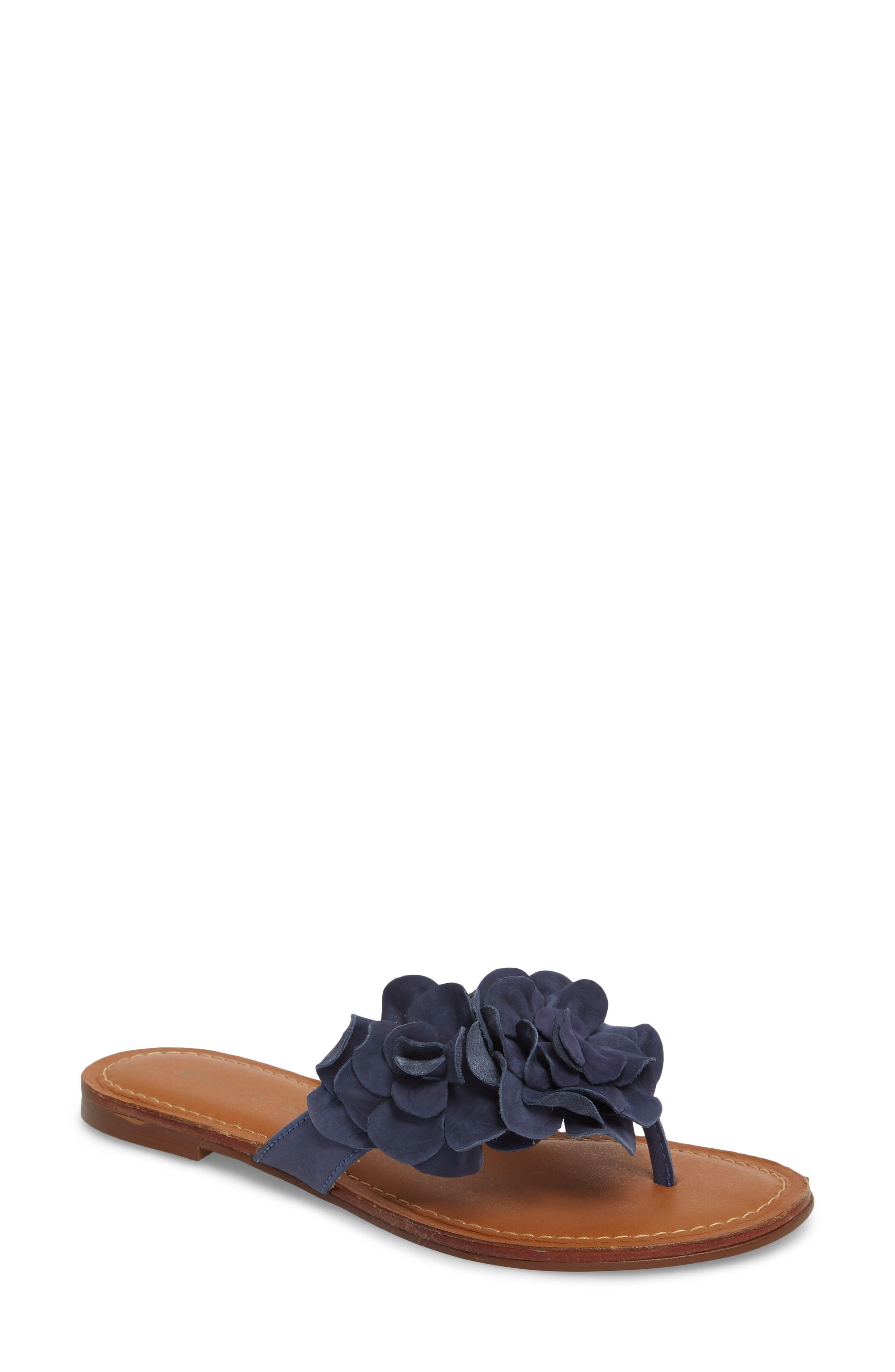 Bibi Sandal,                         Main,                         color, Navy Suede