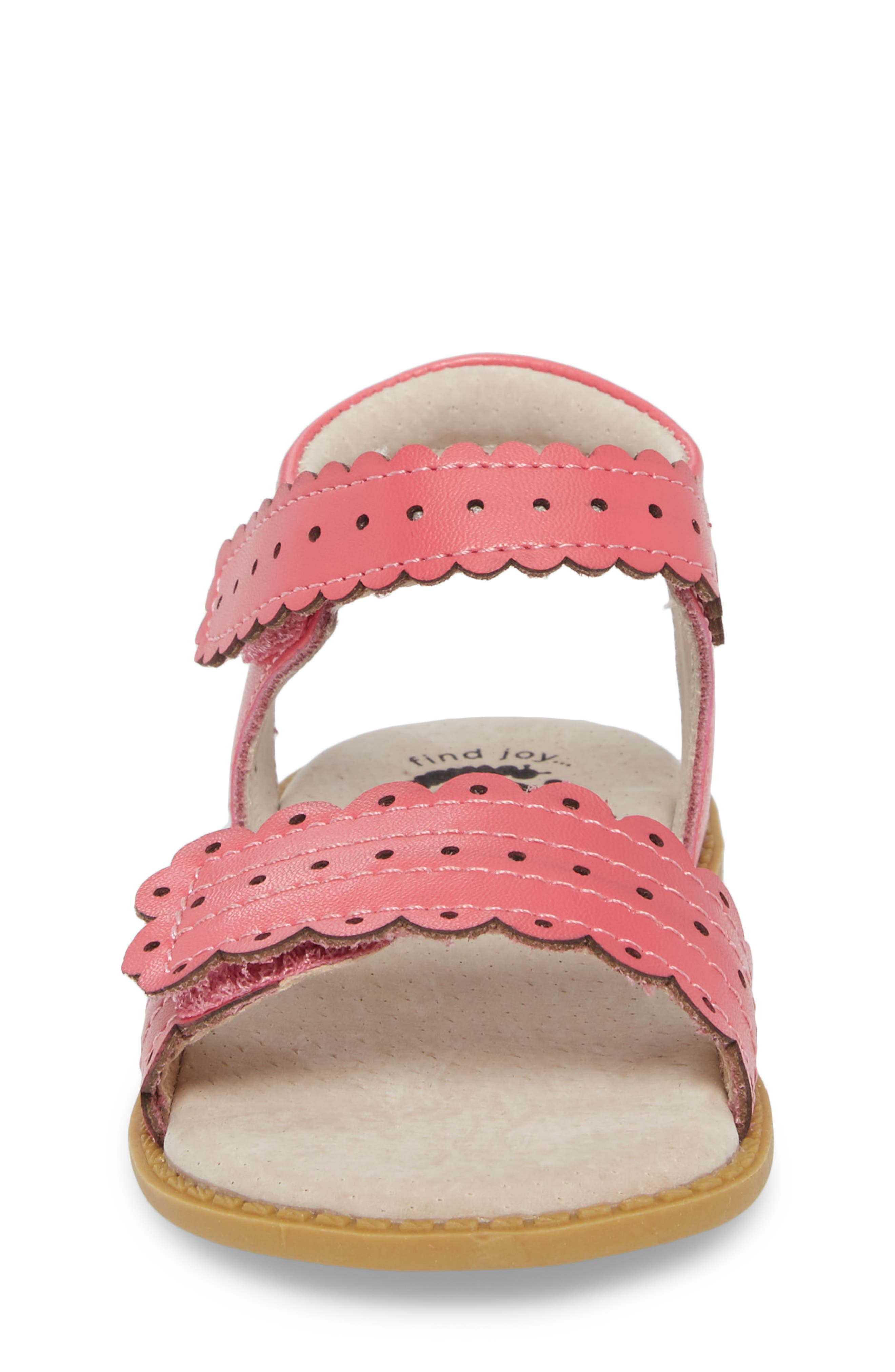 Posey Sandal,                             Alternate thumbnail 4, color,                             Rosy Pink