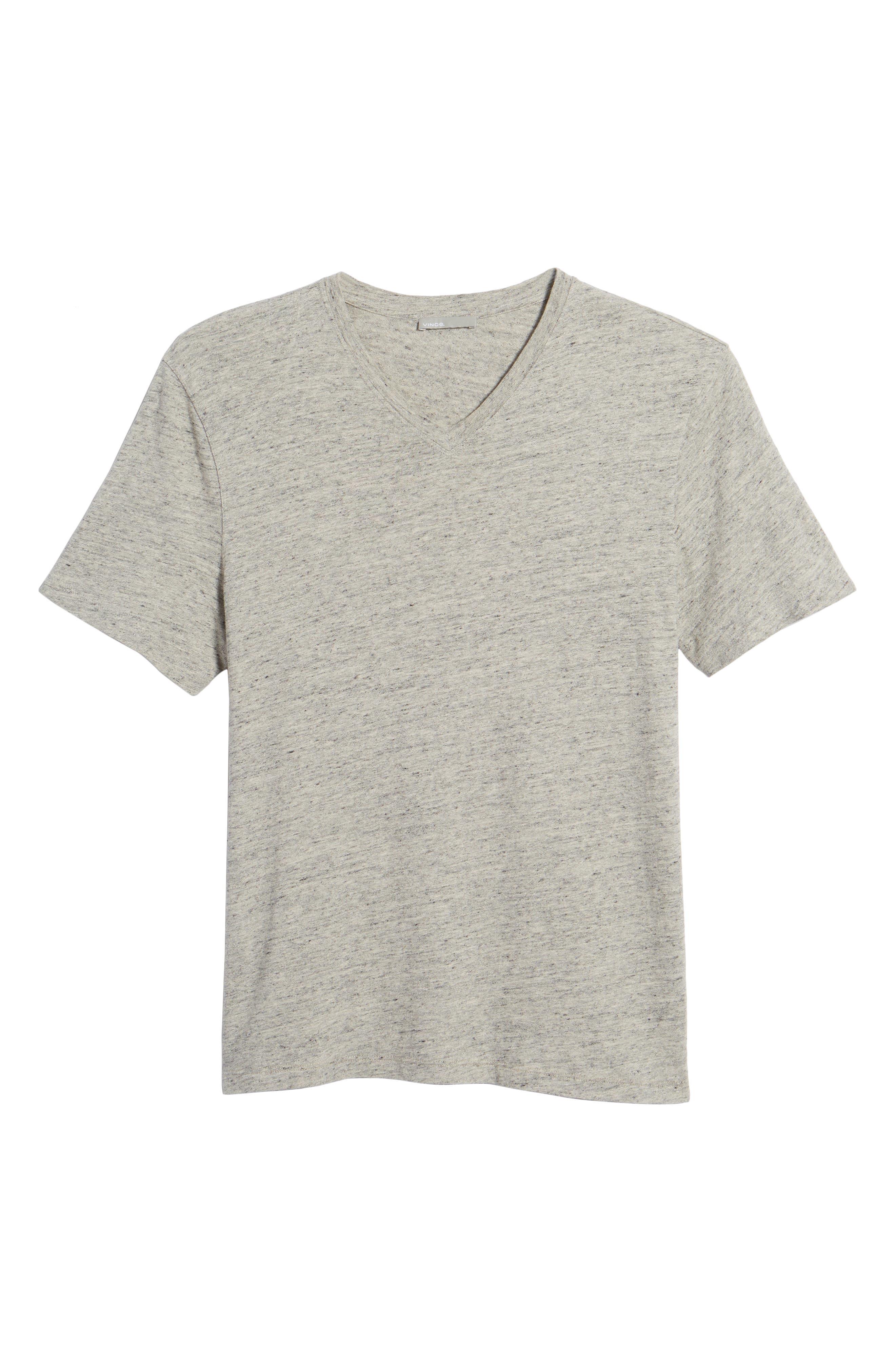 Slim Fit V-Neck T-Shirt,                             Alternate thumbnail 6, color,                             Grey
