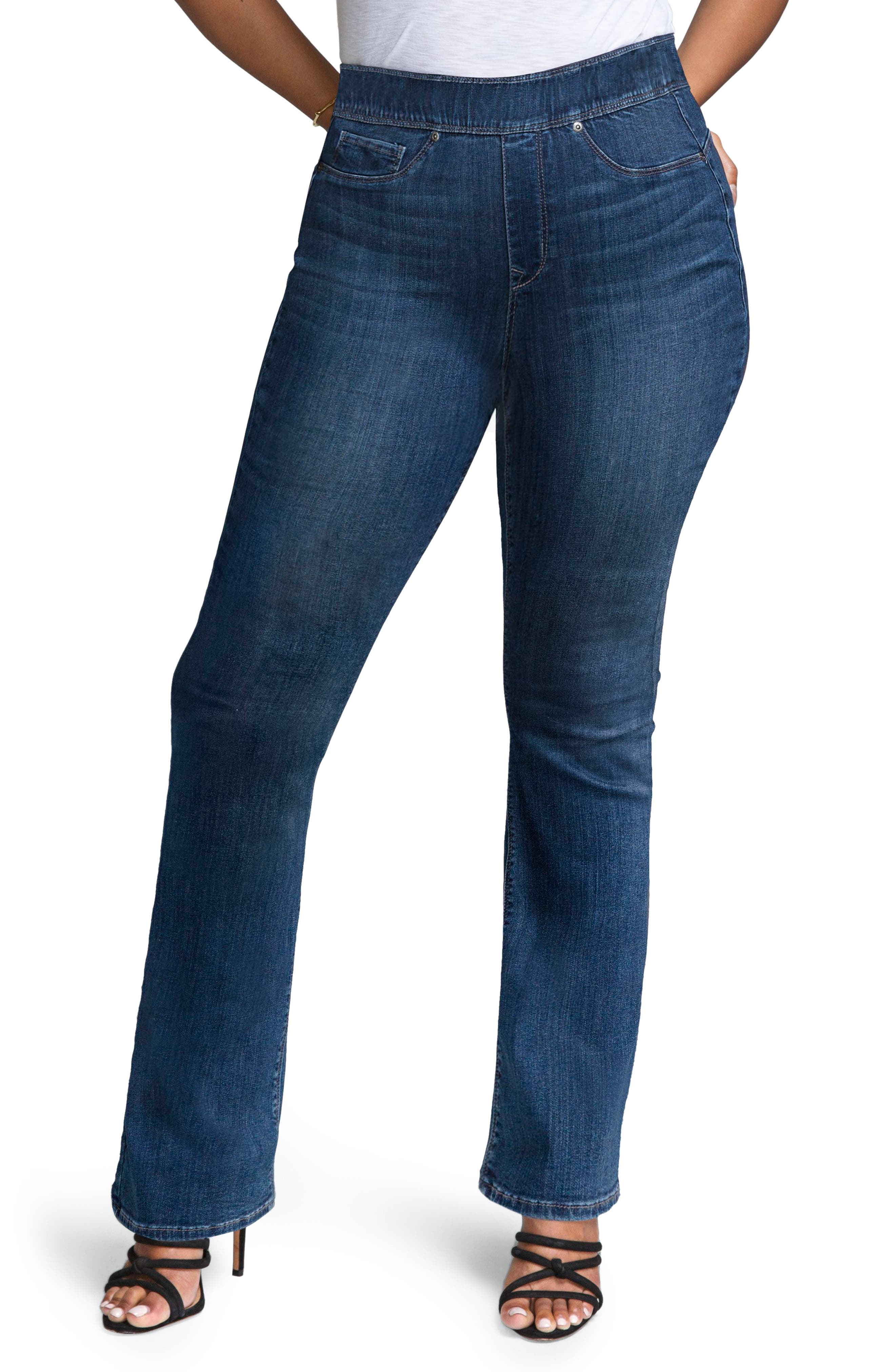 Pull-On Skinny Bootcut Jeans,                         Main,                         color, Duchess