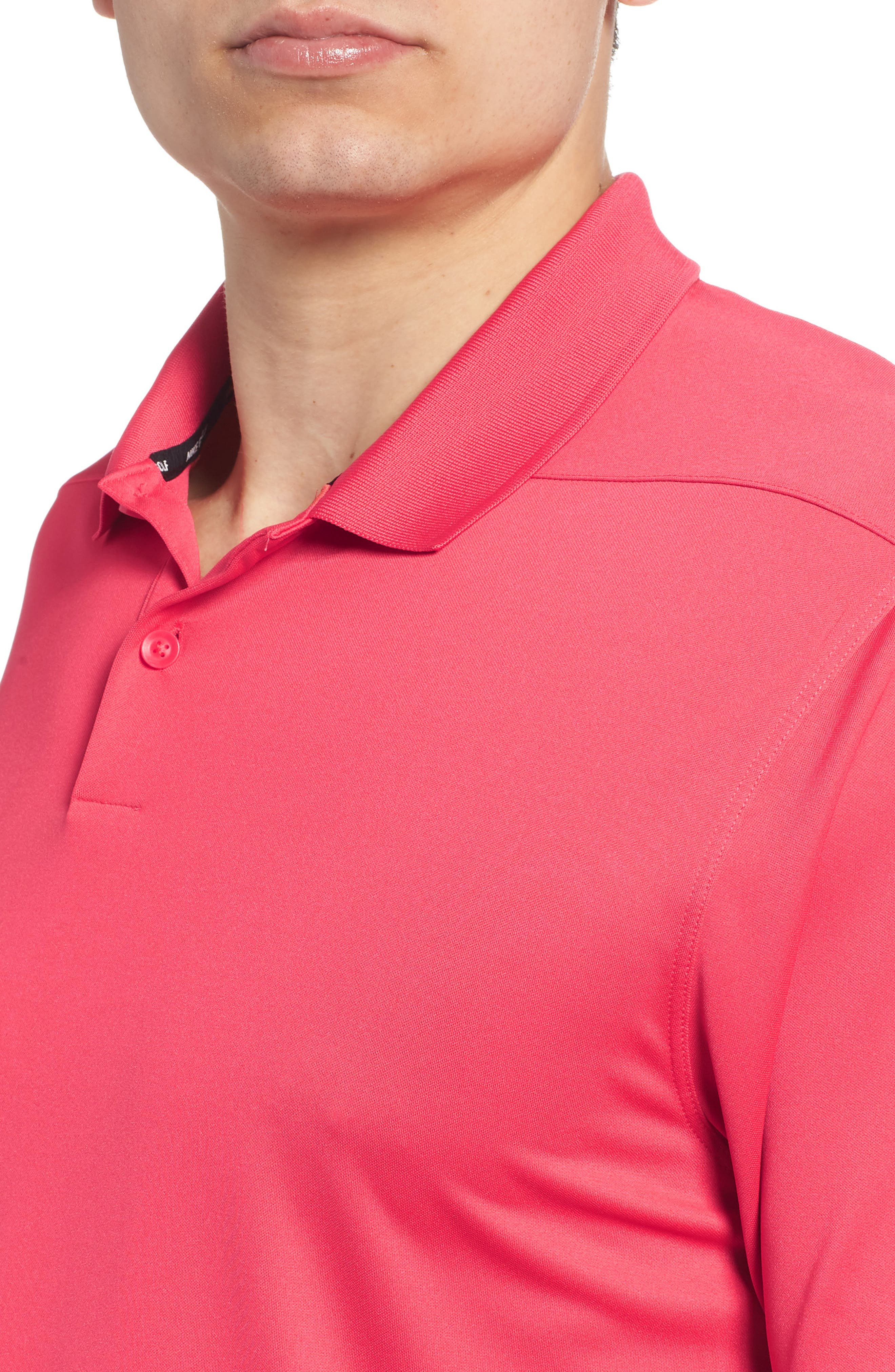 Dry Victory Golf Polo,                             Alternate thumbnail 4, color,                             Tropical Pink/ Black