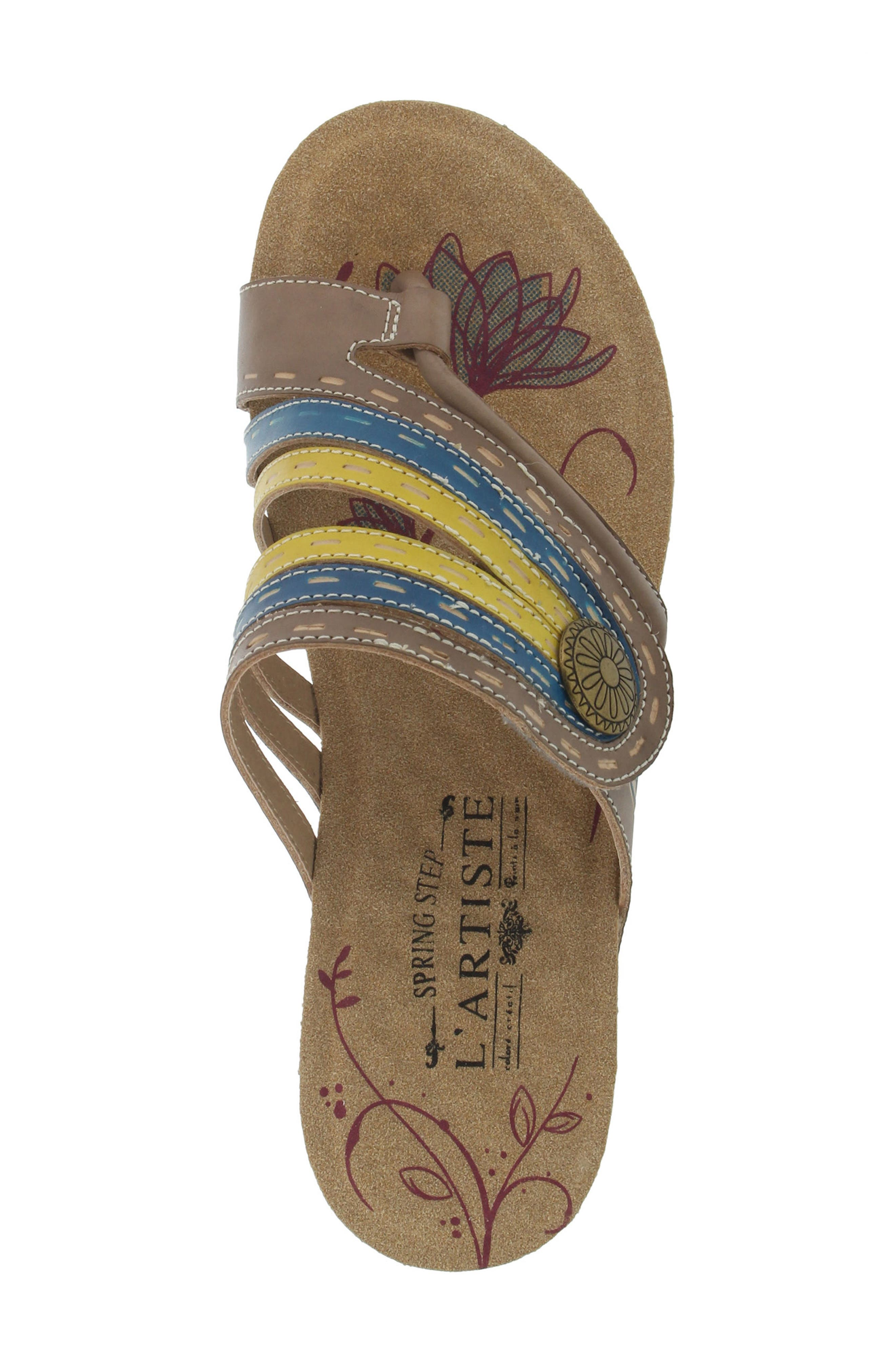 L'Artiste Claudia Wedge Sandal,                             Alternate thumbnail 4, color,                             Taupe Leather